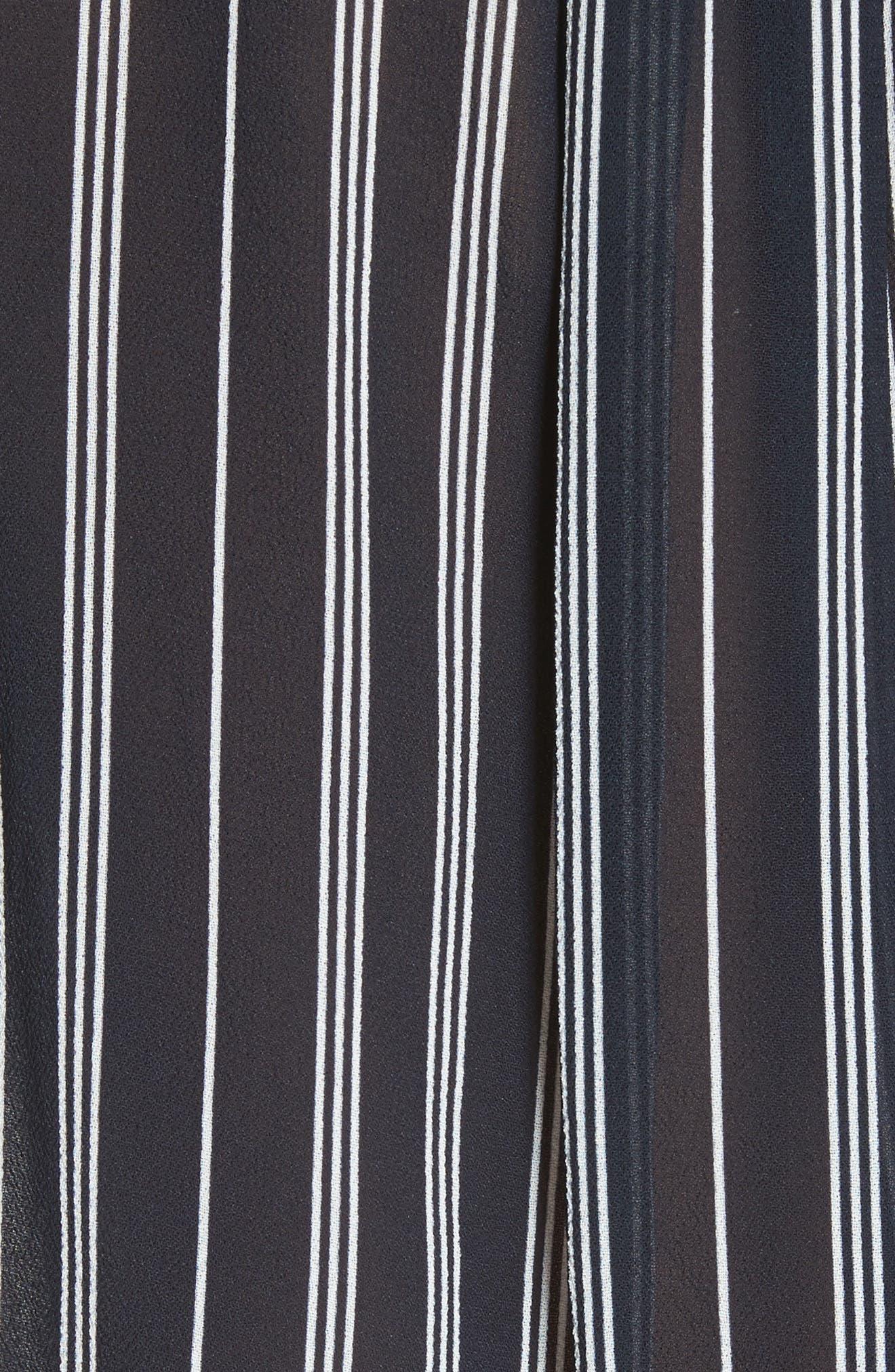 Victor Surplice Neck Tank Top,                             Alternate thumbnail 5, color,                             Navy Stripe