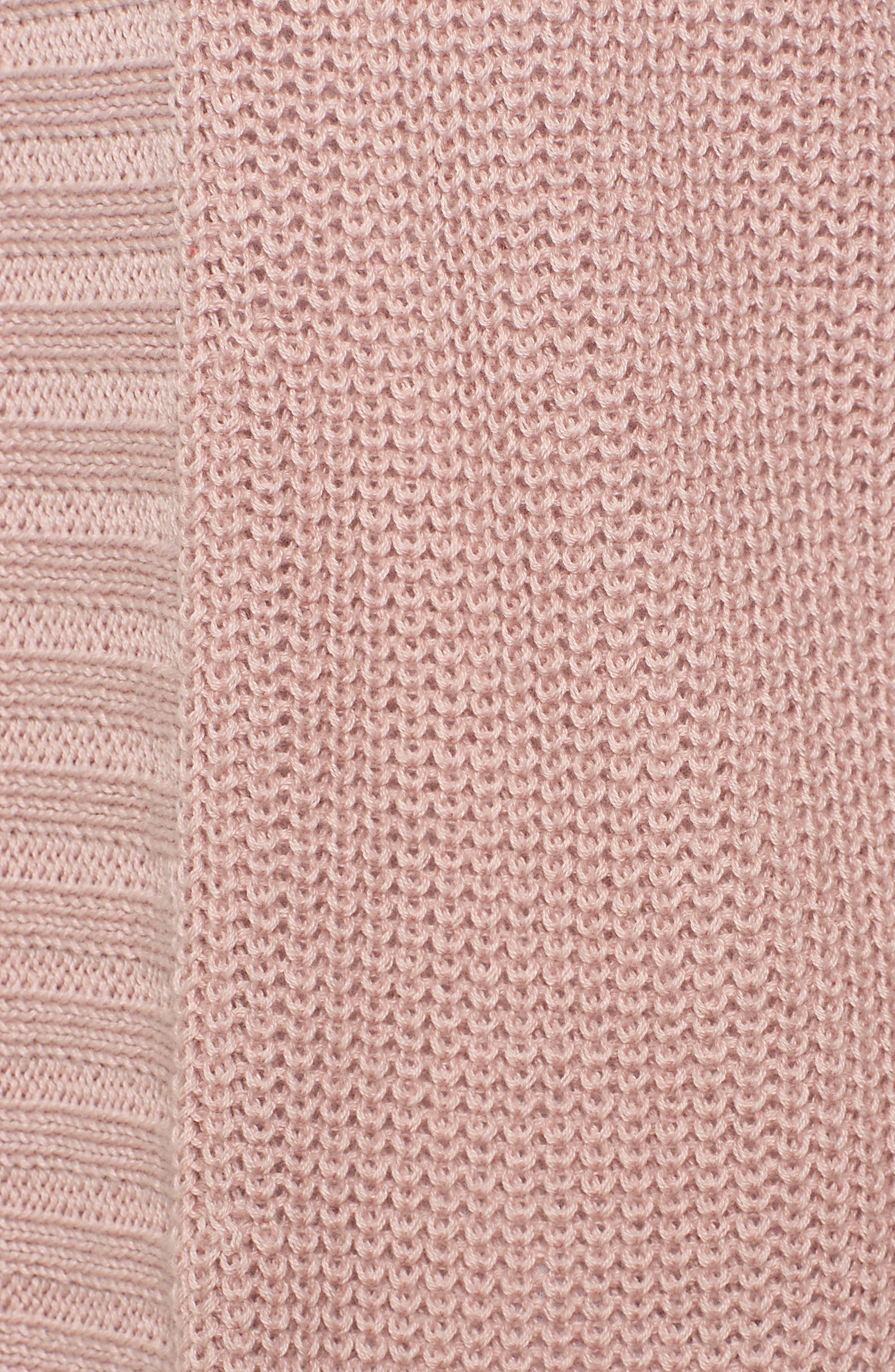 Open Cotton Cardigan,                             Alternate thumbnail 5, color,                             Pink Adobe