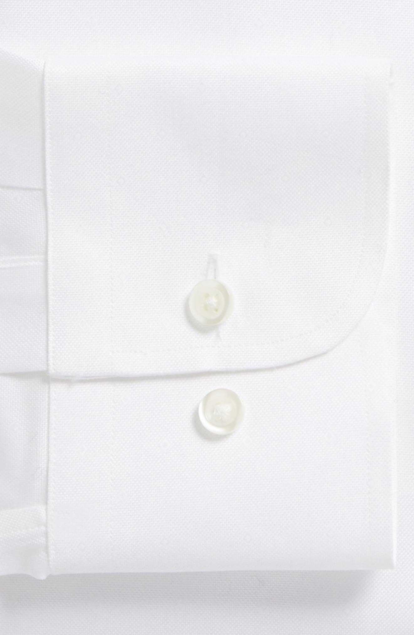 Traditional Fit Solid Dress Shirt,                             Alternate thumbnail 5, color,                             White