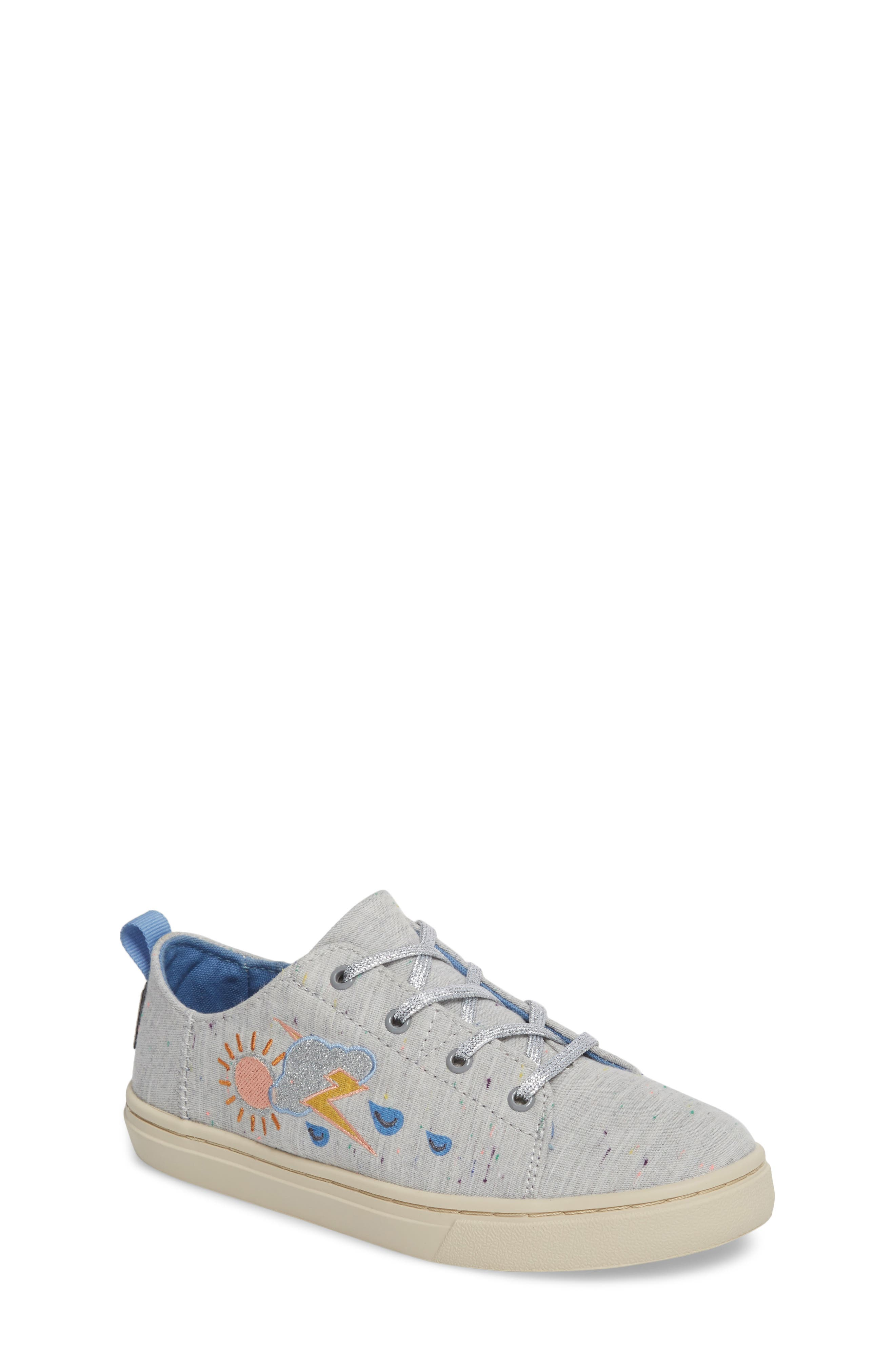 Lenny Embroidered Sneaker,                             Main thumbnail 1, color,                             Grey Multi Drizzly Weather