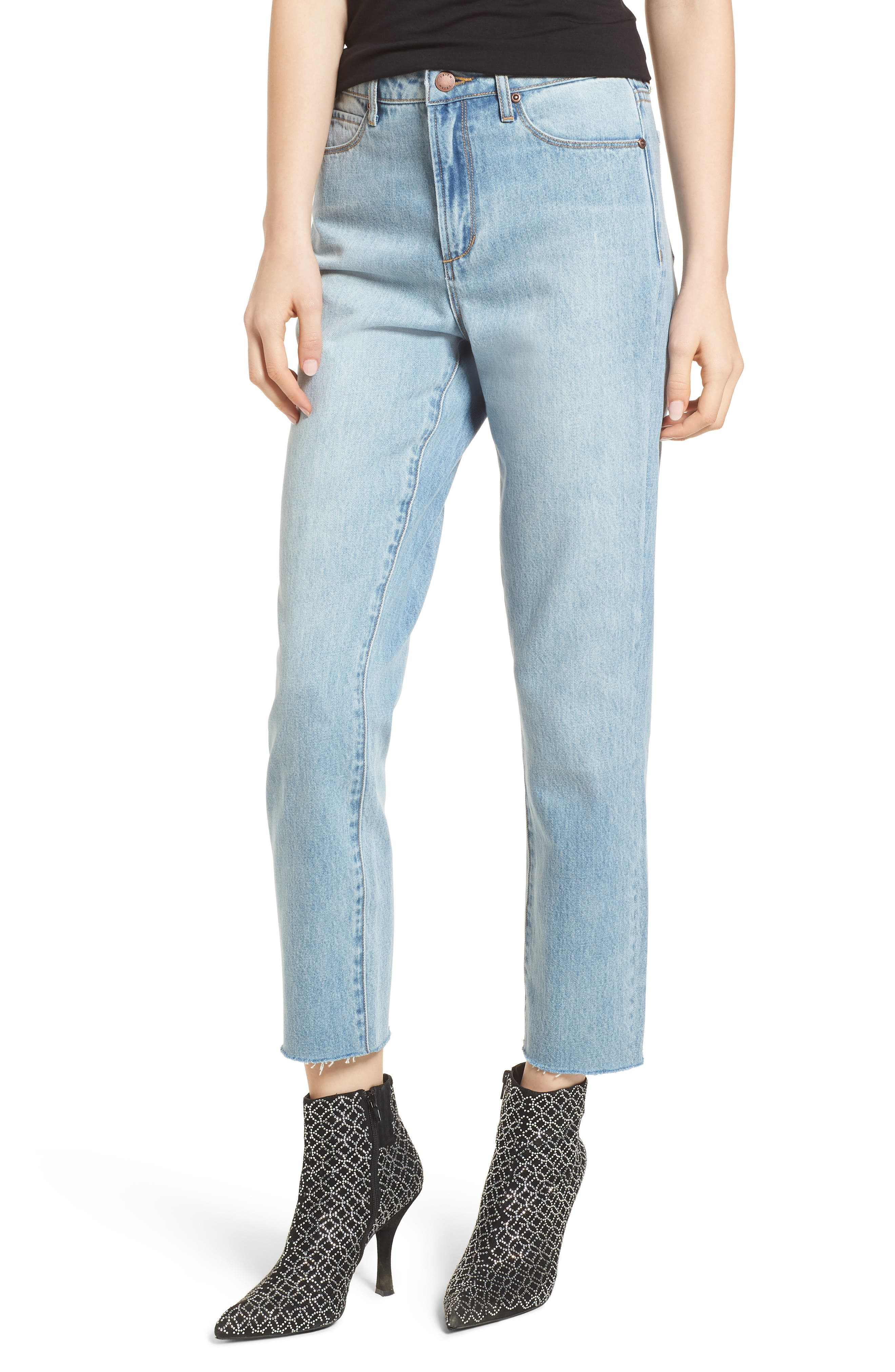 Leith High Waist Crop Straight Leg Jeans