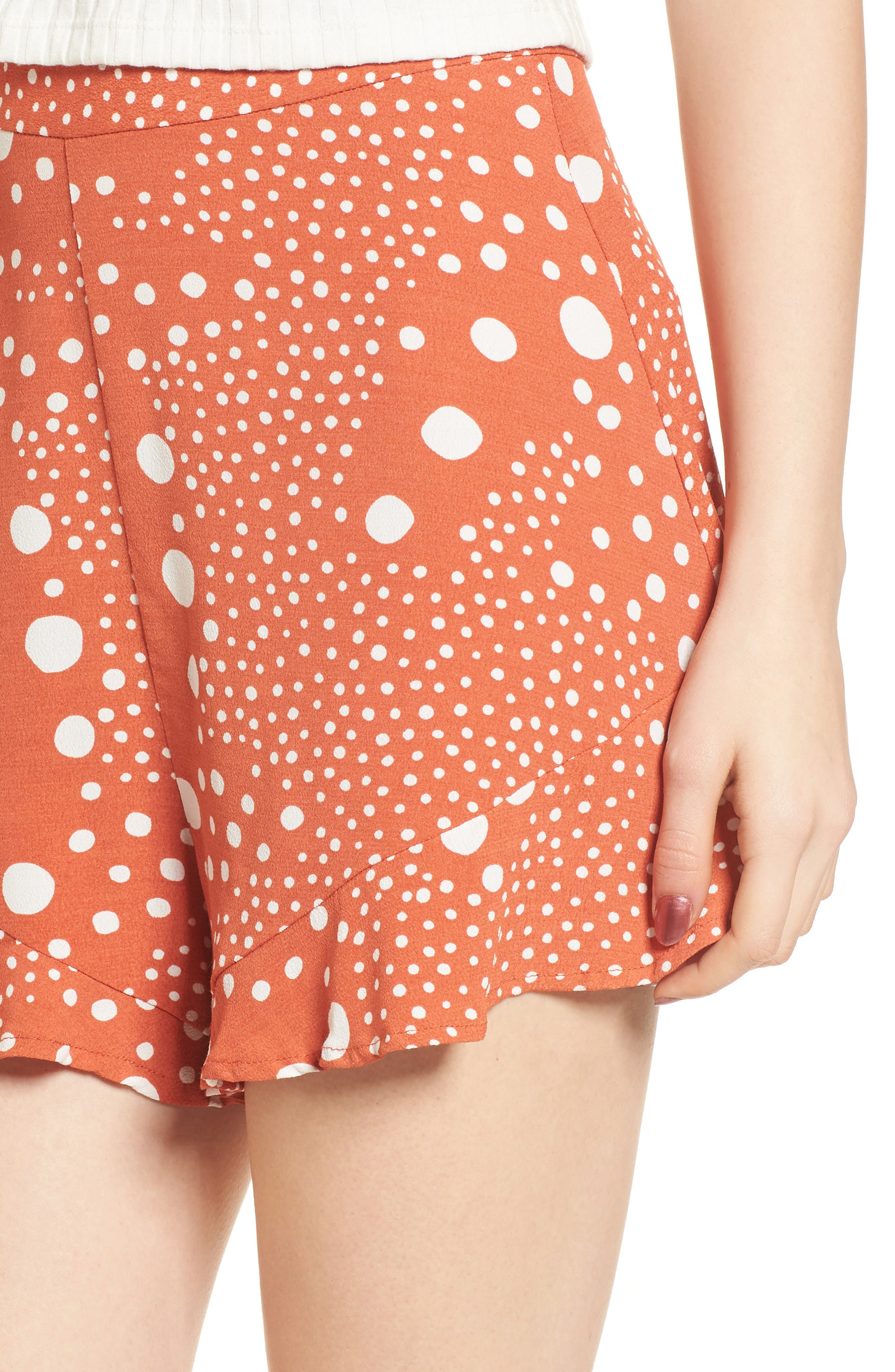 Alternate Image 6  - The Fifth Label Peppers Polka Dot Ruffle Hem Shorts