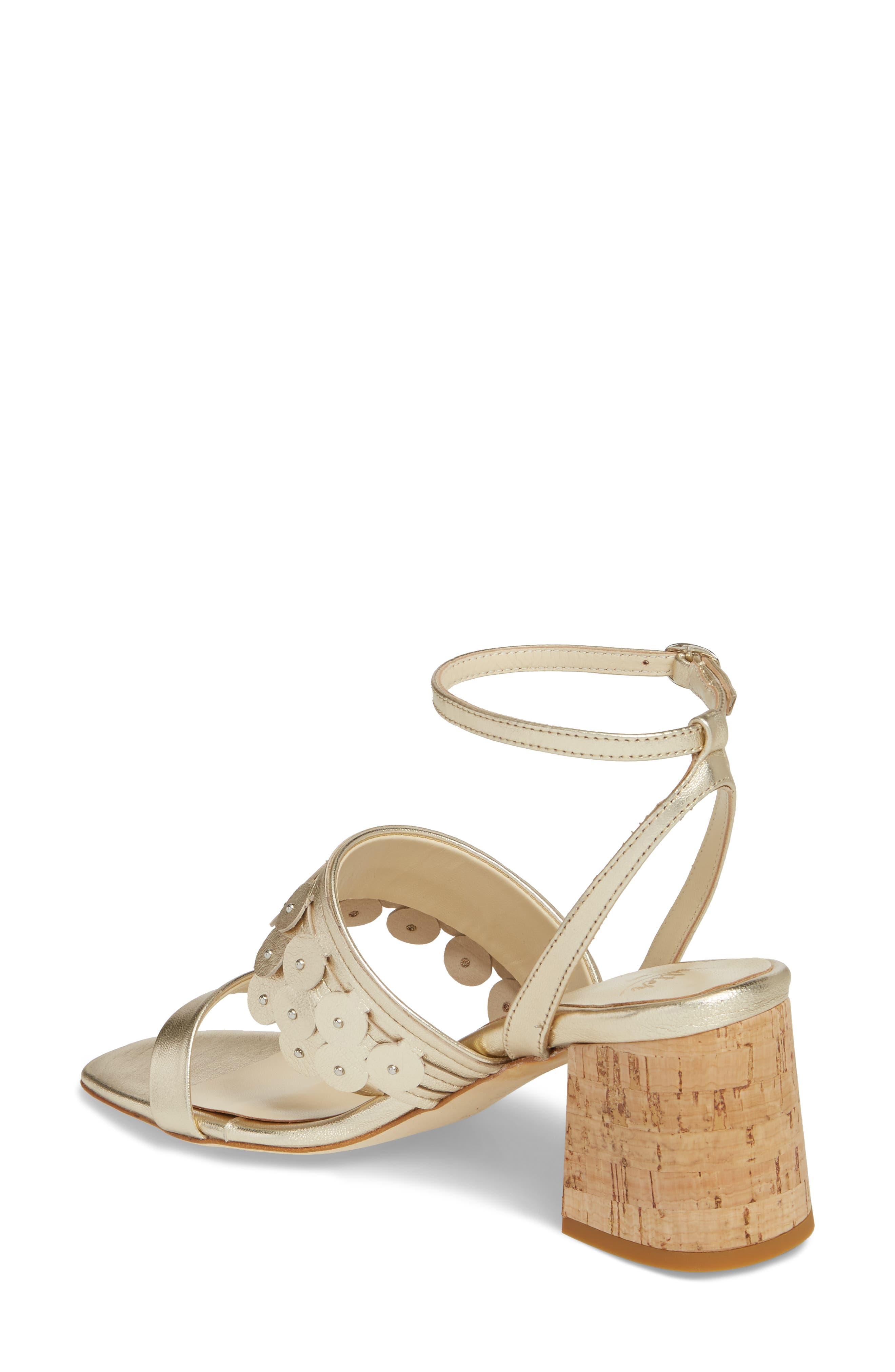 Butter Finley Studded Ankle Strap Sandal,                             Alternate thumbnail 2, color,                             Platino Napa