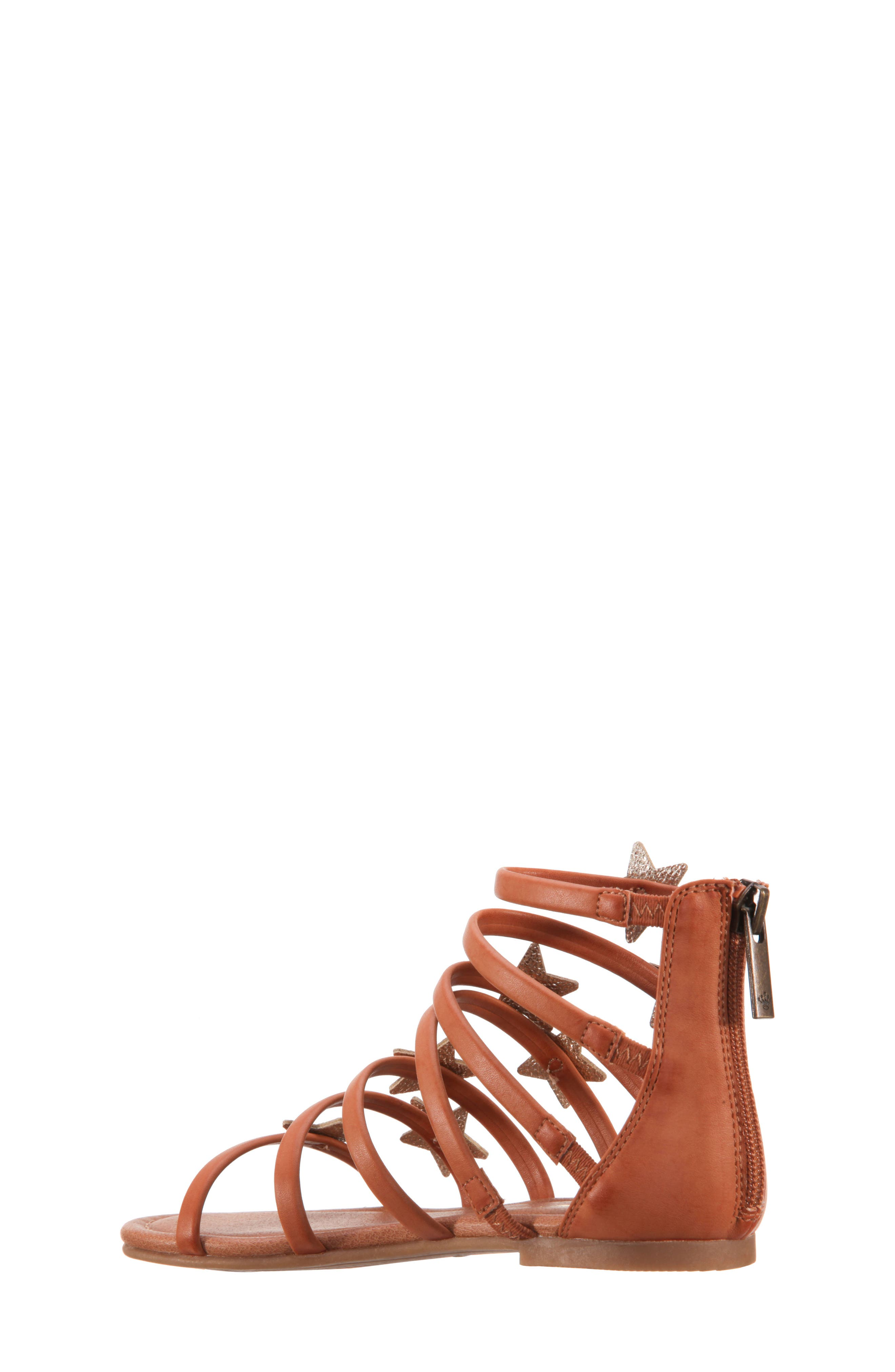 Robertha Gladiator Sandal,                             Alternate thumbnail 2, color,                             Tan Smooth/ Gold Metallic