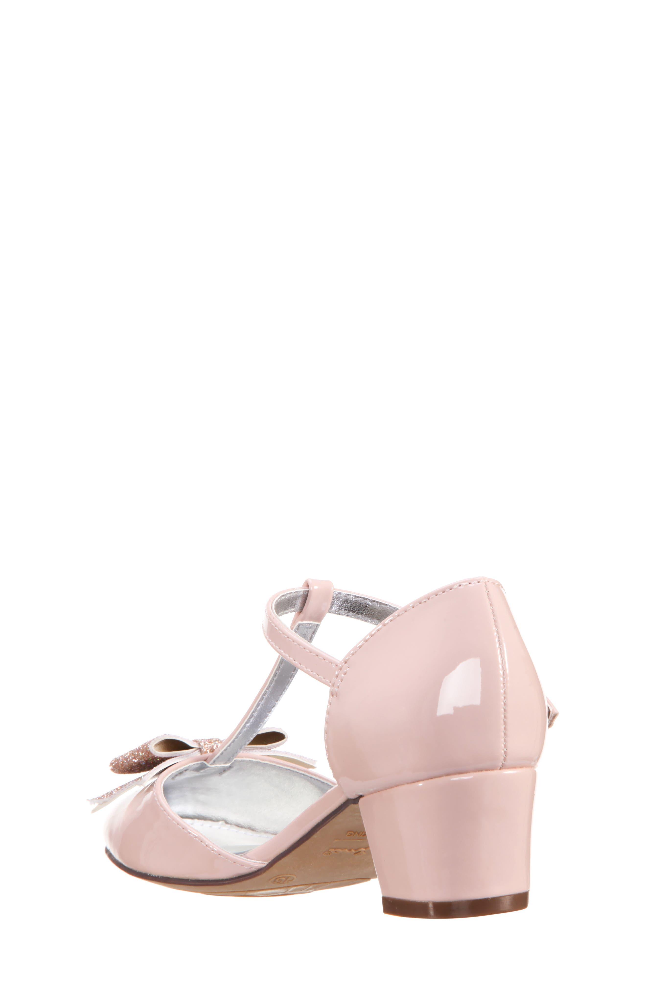 Marvette T-Strap Sandal,                             Alternate thumbnail 2, color,                             Blush Patent