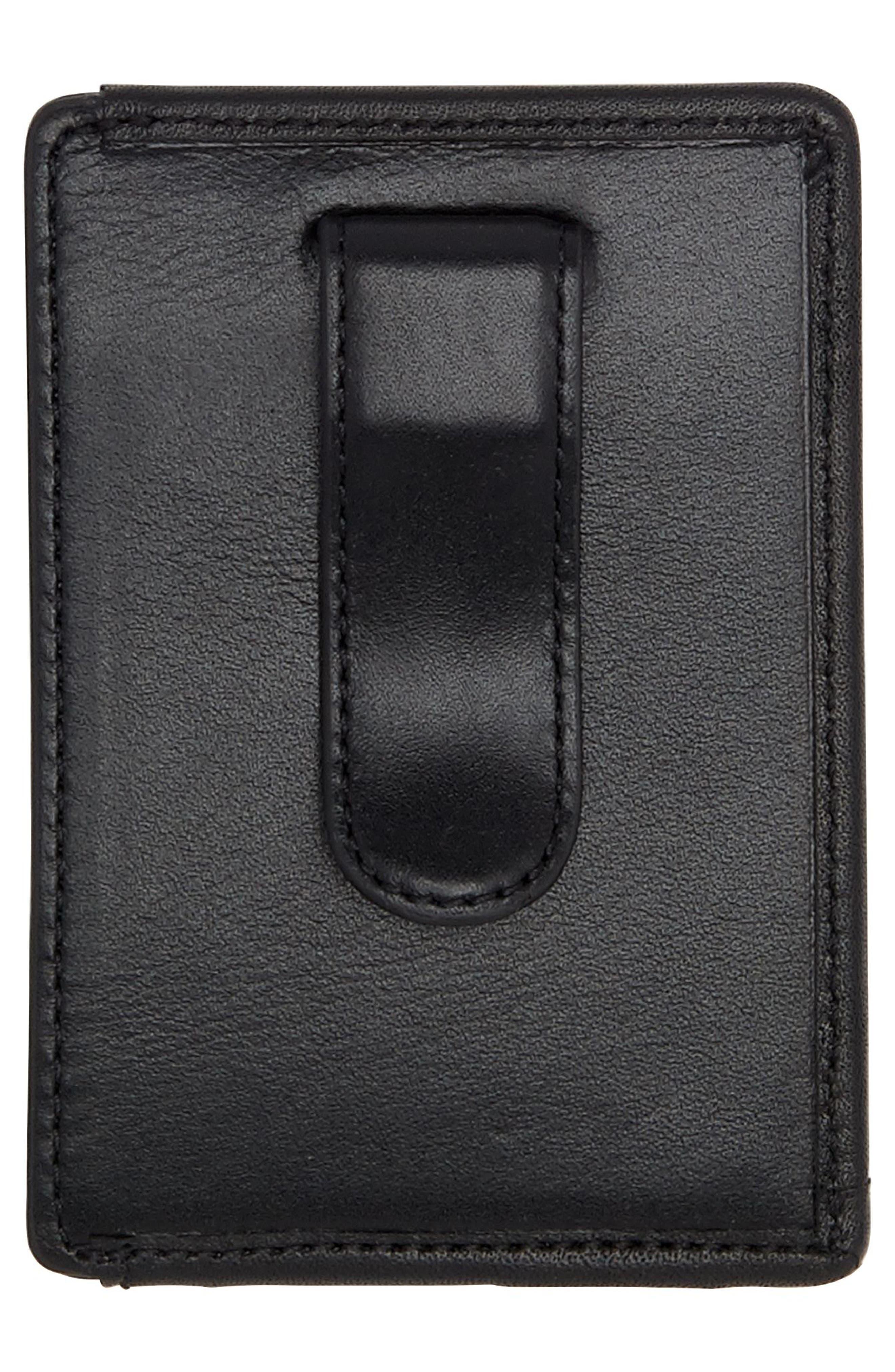 Alpha Money Clip Card Case,                             Alternate thumbnail 2, color,                             Anthracite/ Black