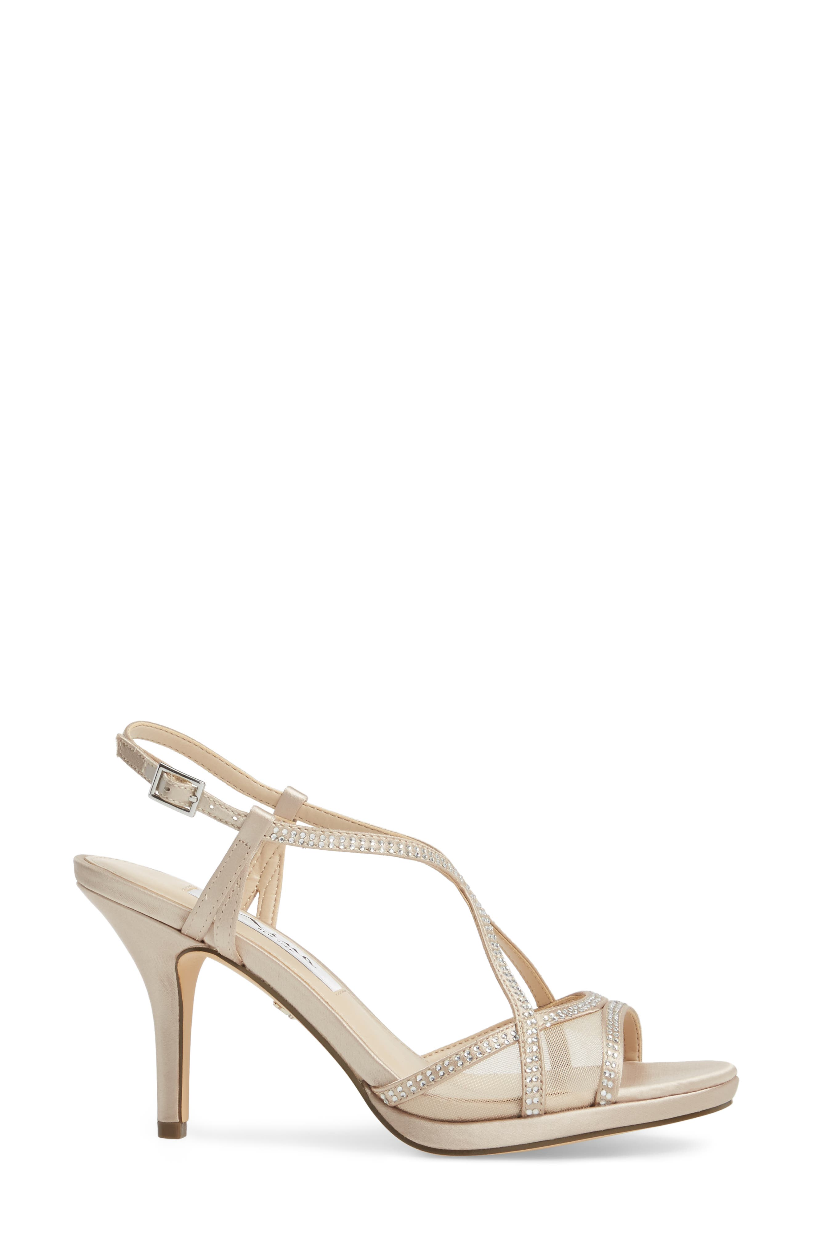 Alternate Image 3  - Nina Blossom Crystal Embellished Sandal (Women)