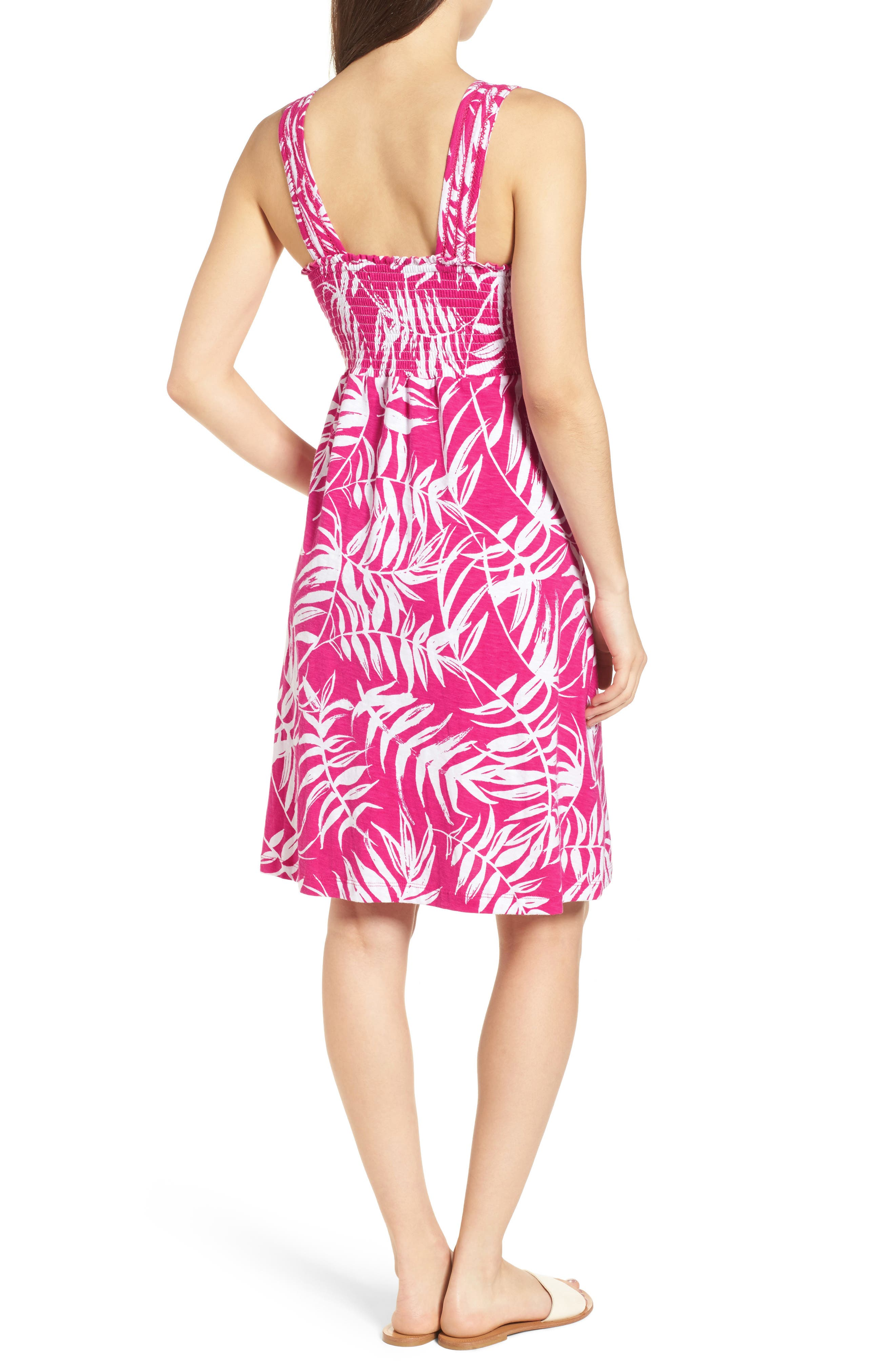 Fronds with Benefits Dress,                             Alternate thumbnail 2, color,                             Bright Blush