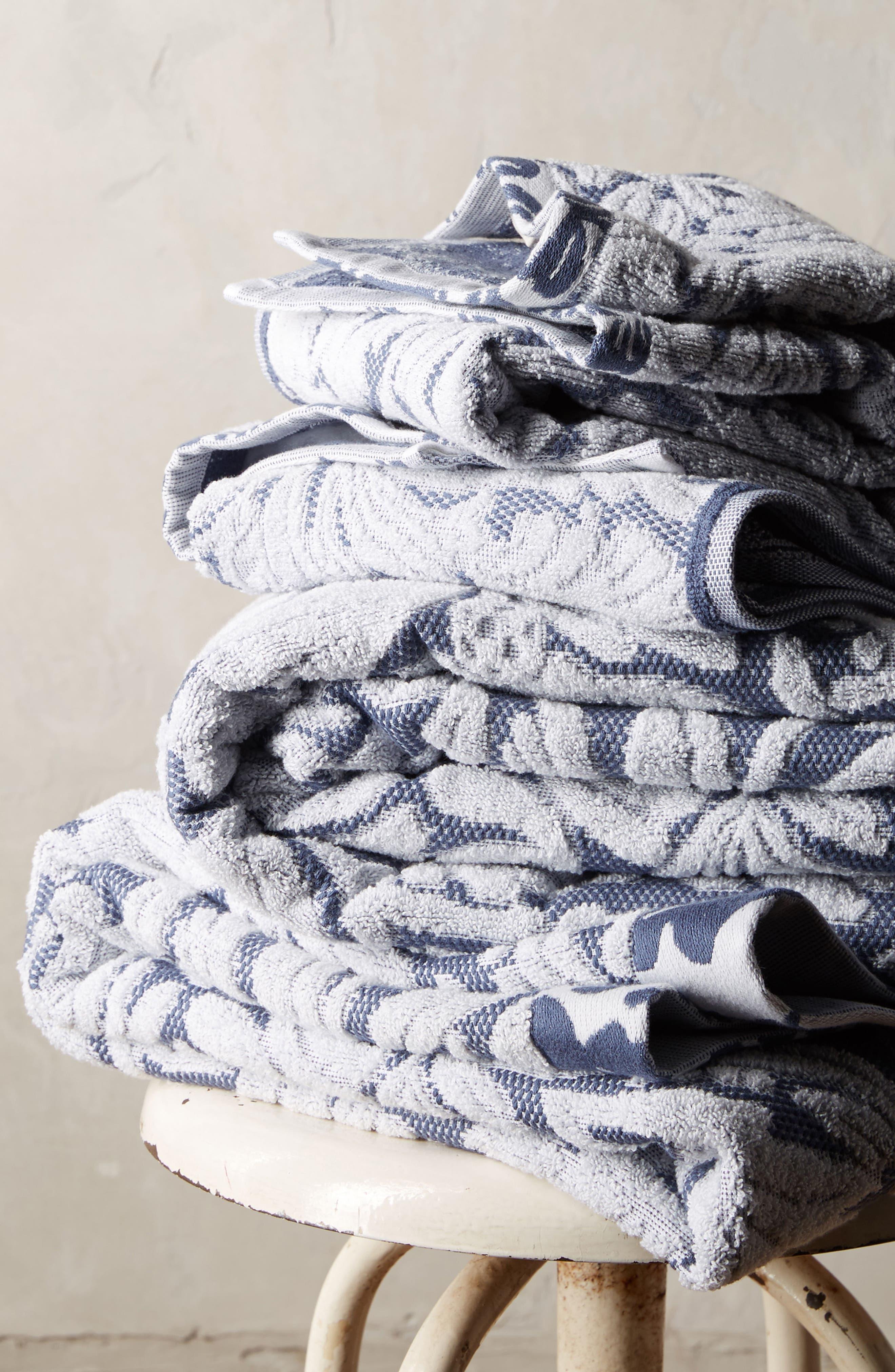 Mae Bath Towel,                             Alternate thumbnail 3, color,                             Slate