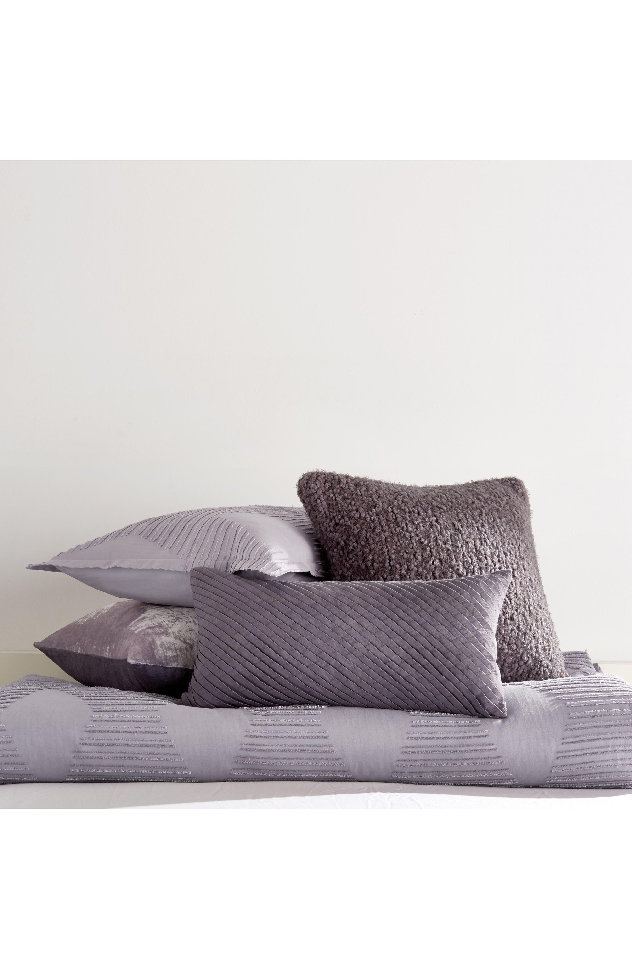 X Factor Knit Accent Pillow,                             Alternate thumbnail 2, color,                             Purple Dusk