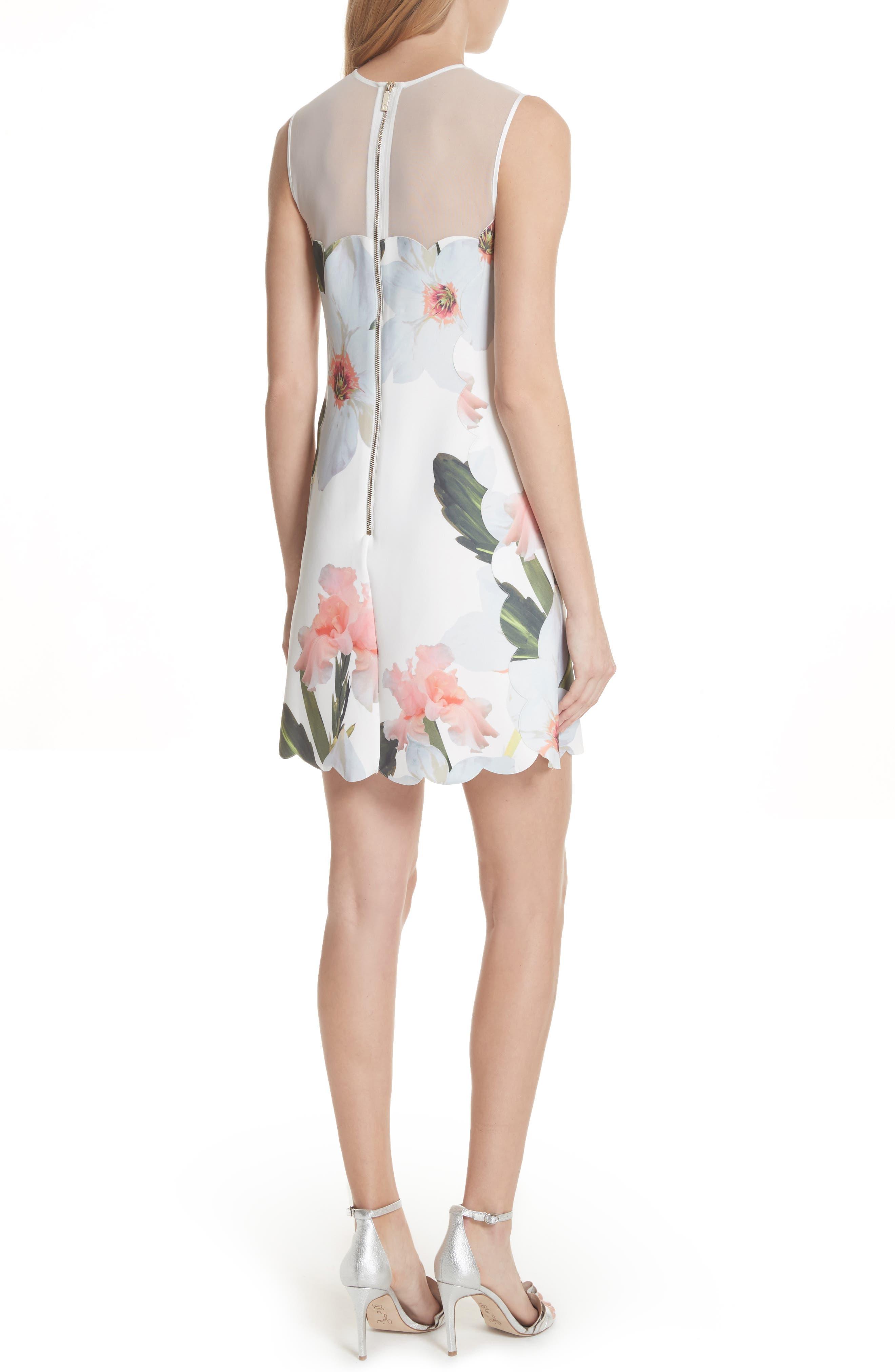 Chatsworth Bloom Tunic Dress,                             Alternate thumbnail 2, color,                             White