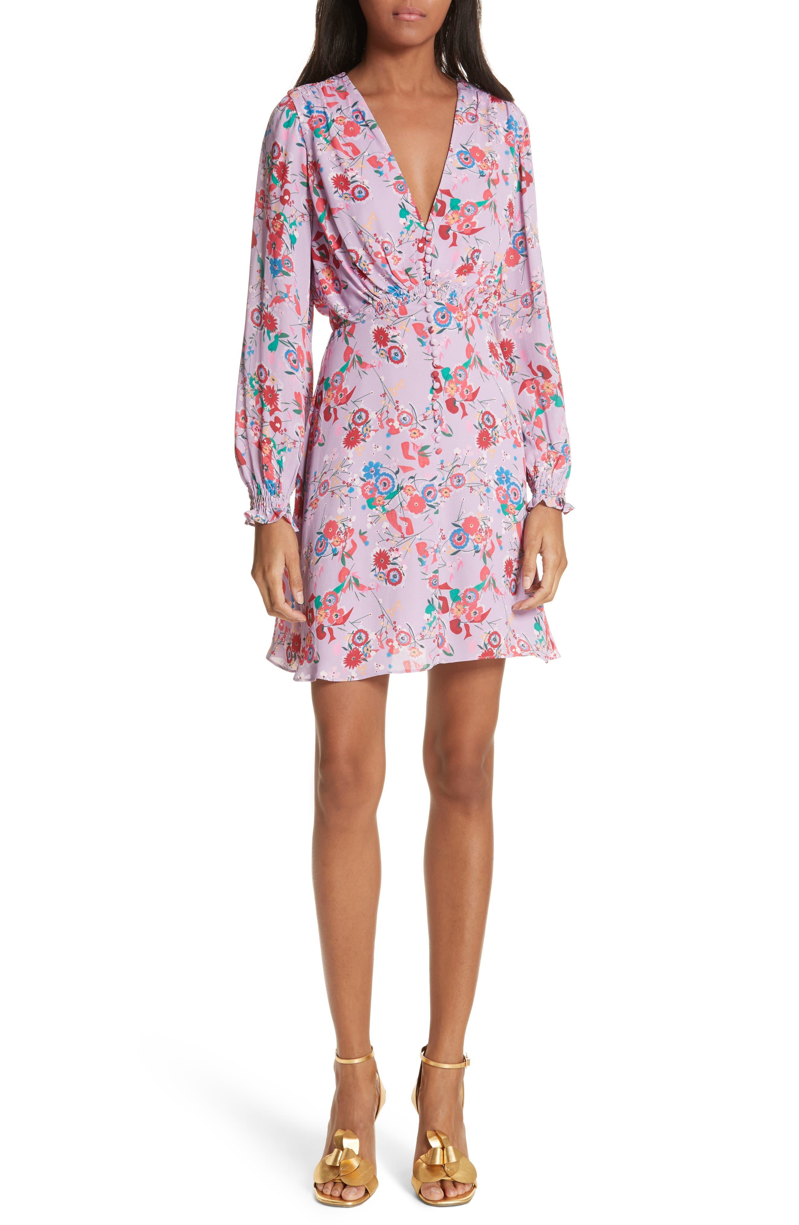 Eve Floral Print Dress,                             Main thumbnail 1, color,                             Lilac Pimpernel