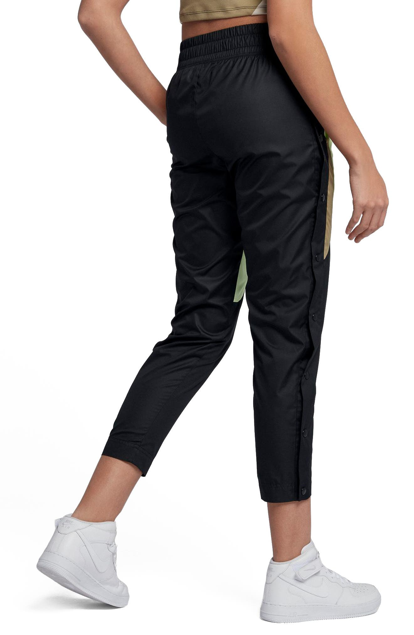 Sportswear Tearaway Woven Pants,                             Alternate thumbnail 2, color,                             Black/Black