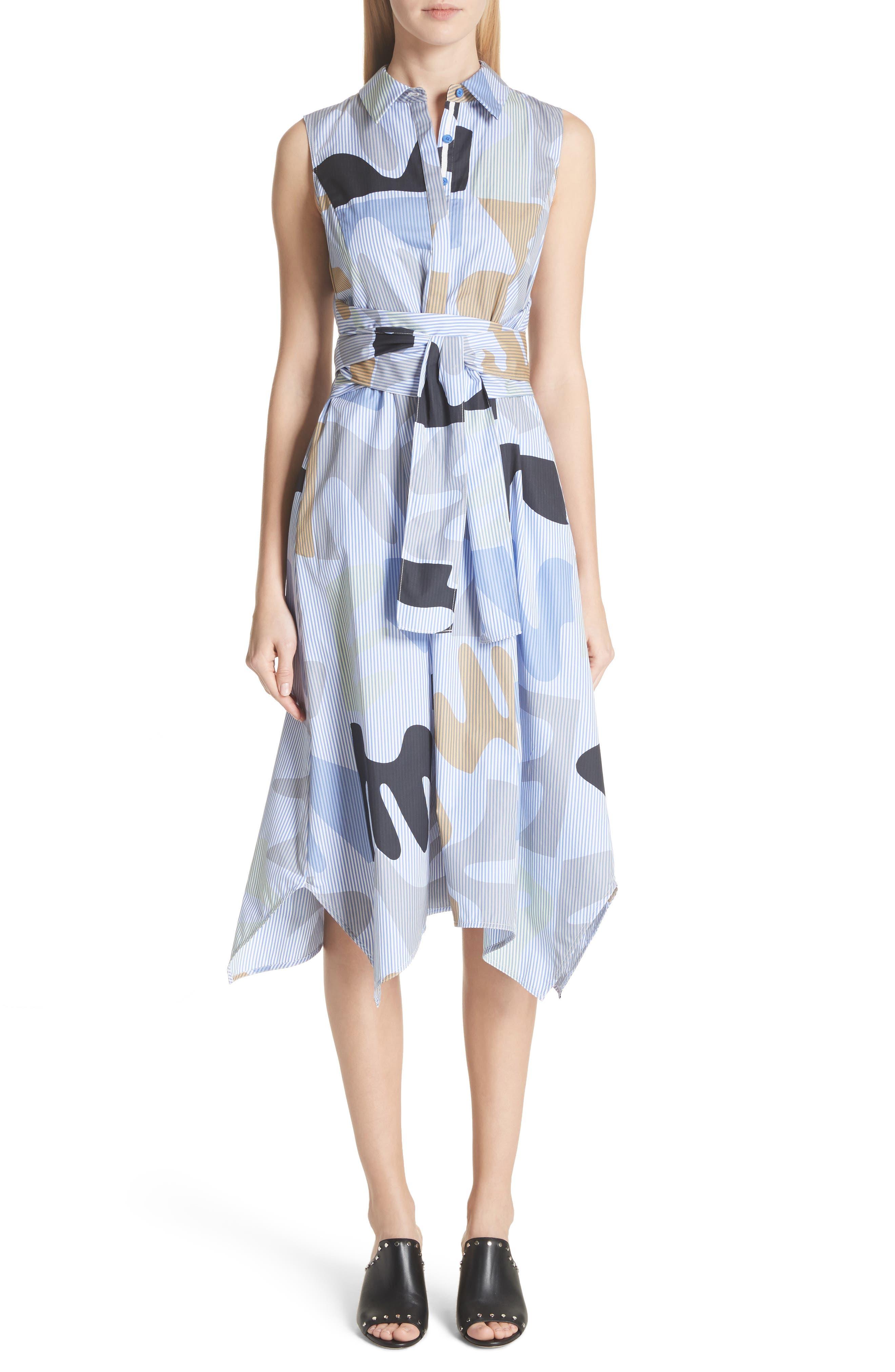 Cordelia Urban Ethos Stripe Dress,                             Main thumbnail 1, color,                             Periwinkle Multi