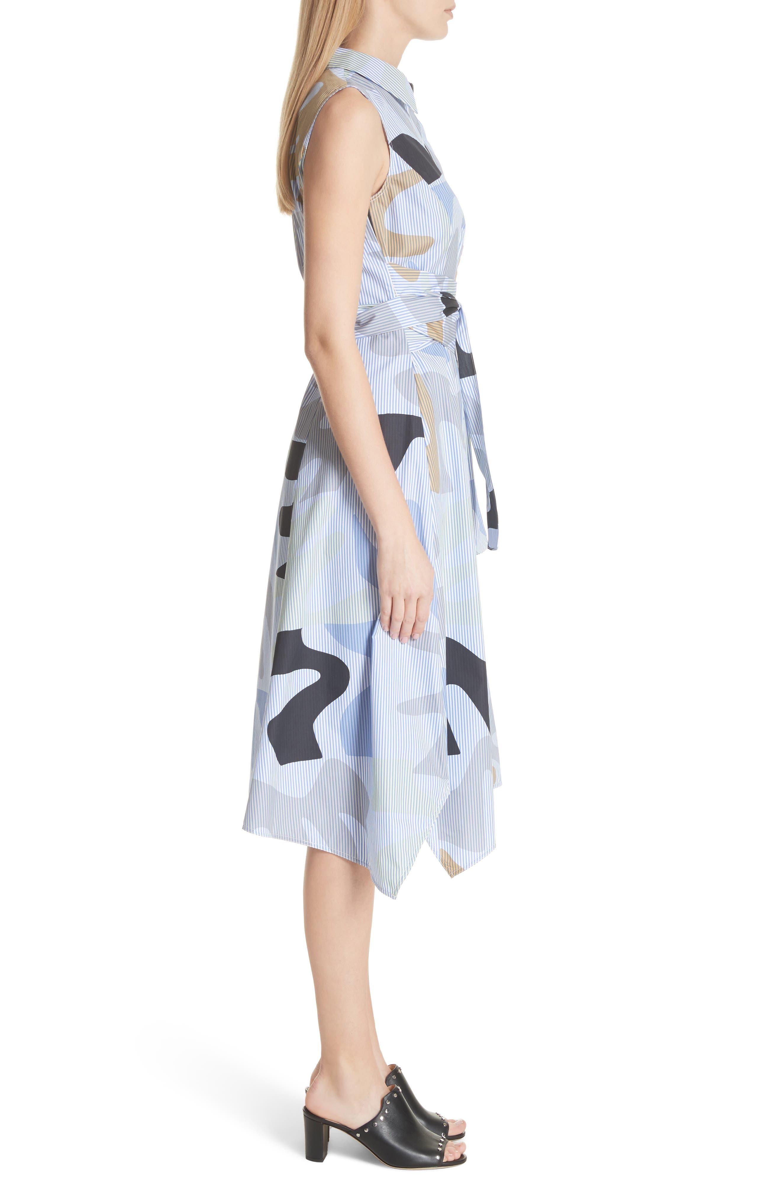Cordelia Urban Ethos Stripe Dress,                             Alternate thumbnail 3, color,                             Periwinkle Multi