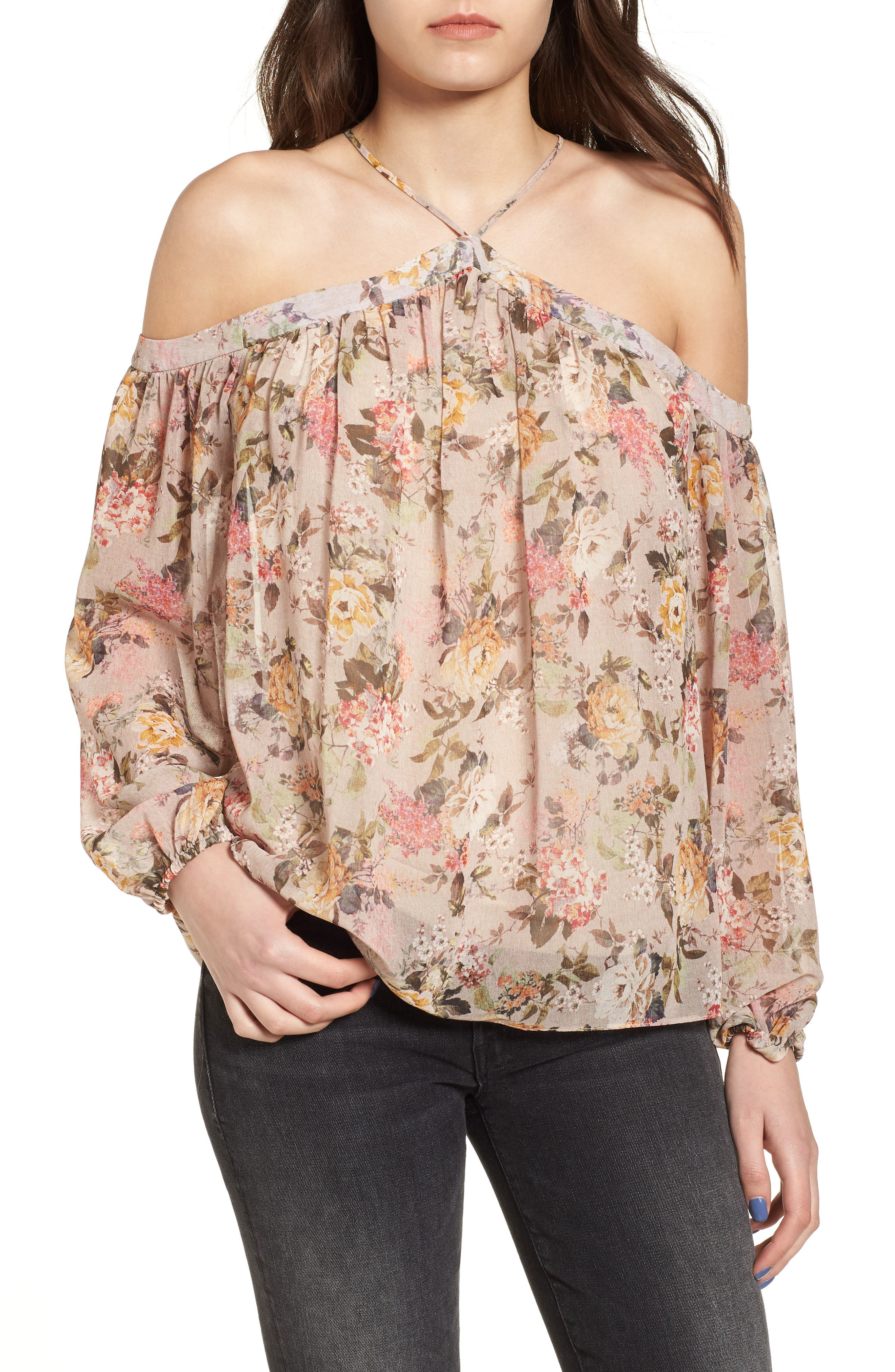 Inamorata Blouse,                             Main thumbnail 1, color,                             Blush