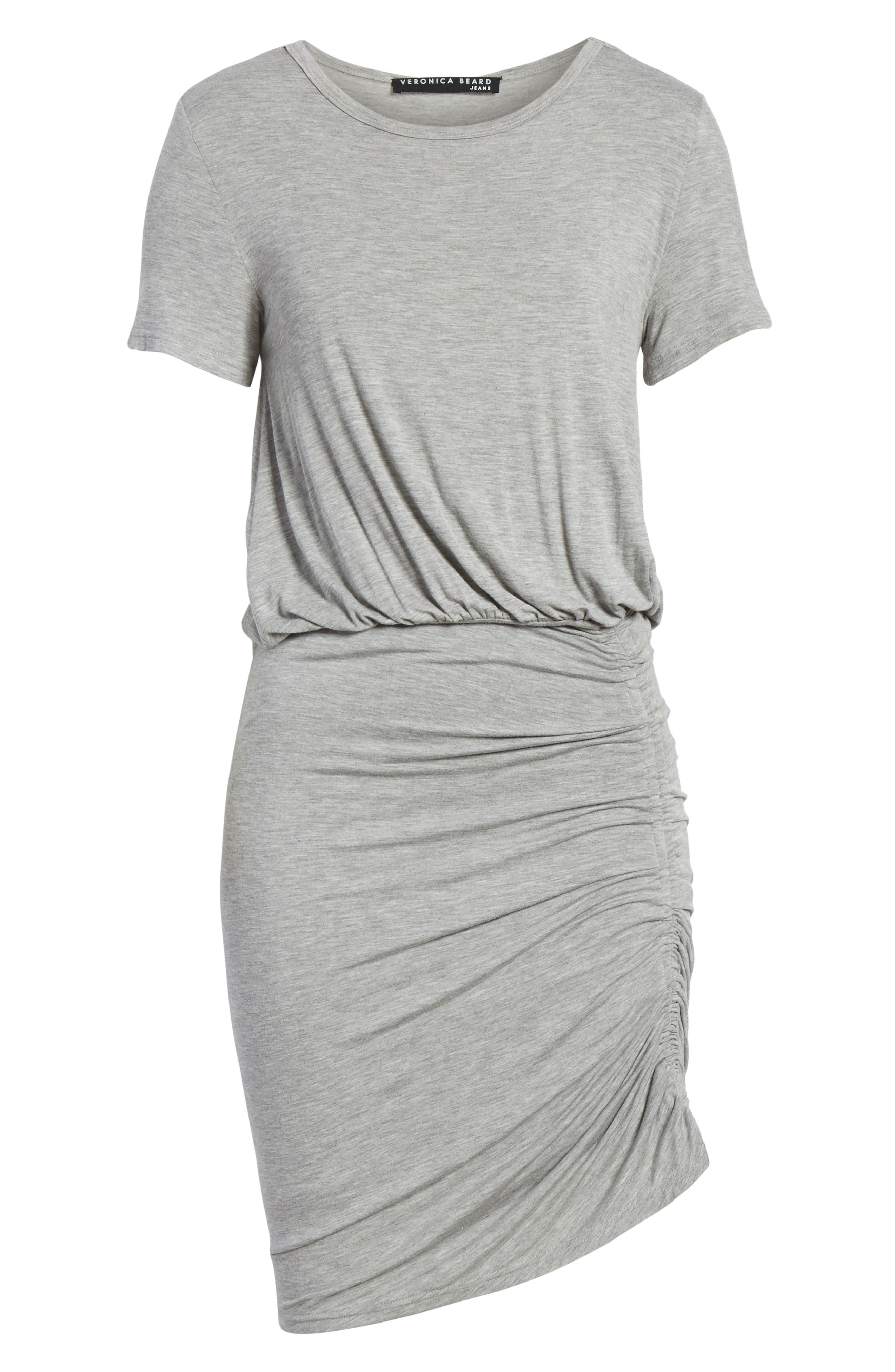 Yari Blouson Dress,                             Alternate thumbnail 6, color,                             Grey