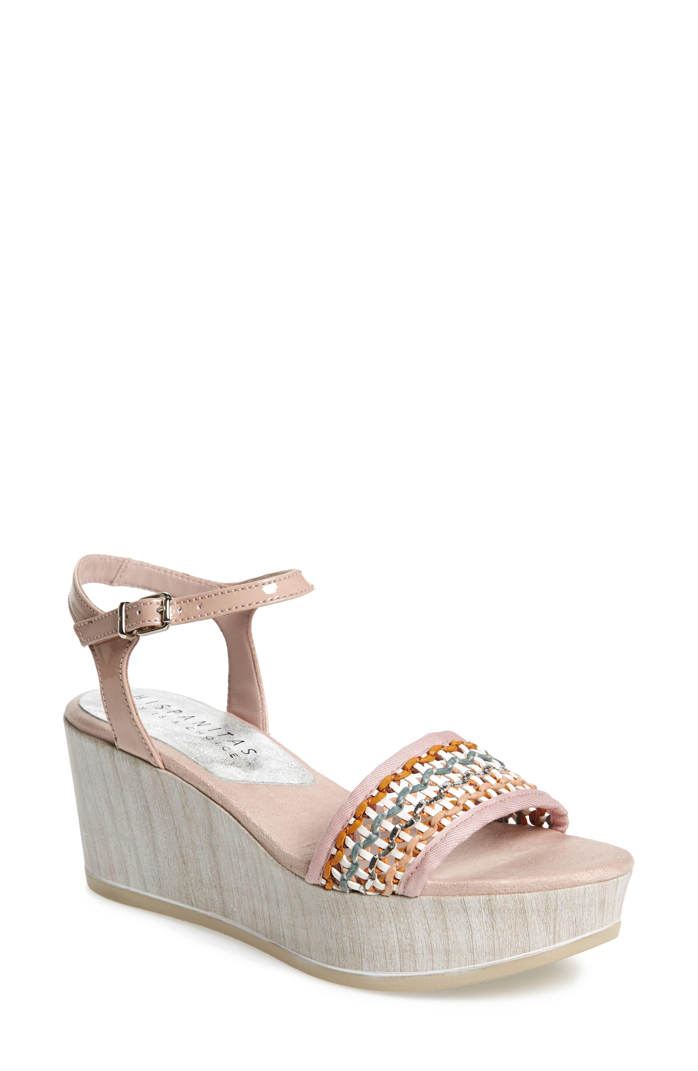 Colbi Platform Wedge Sandal,                         Main,                         color, Amalfittana Leather