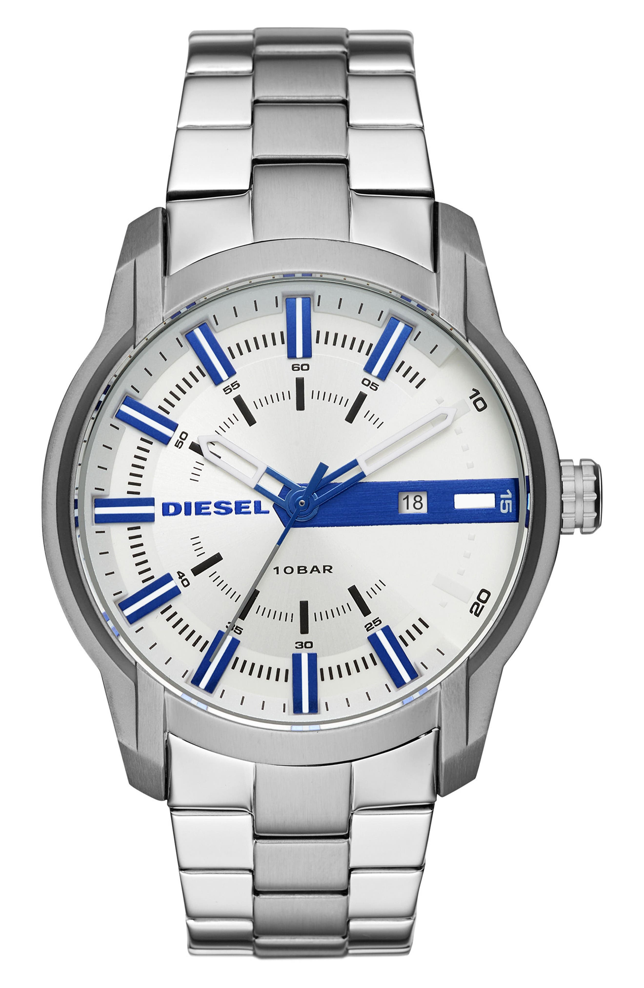 Main Image - DIESEL® Armbar Bracelet Watch, 44mm