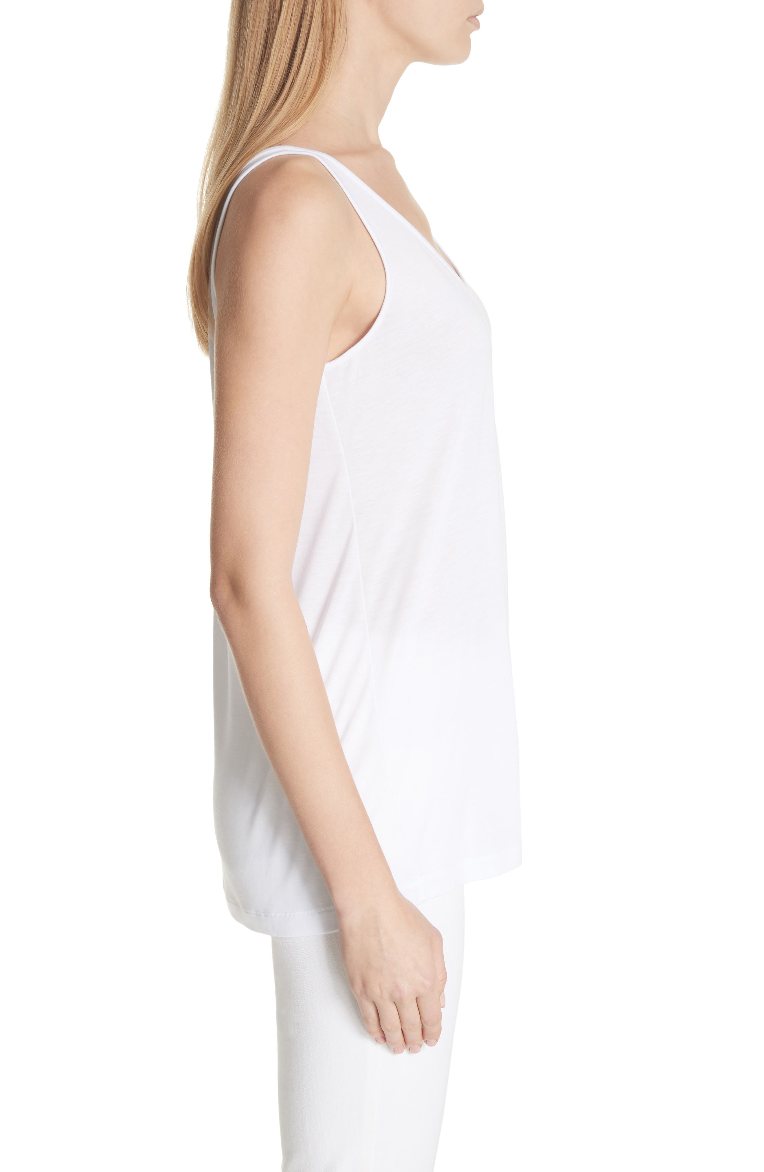Ivy Tank Top,                             Alternate thumbnail 3, color,                             White