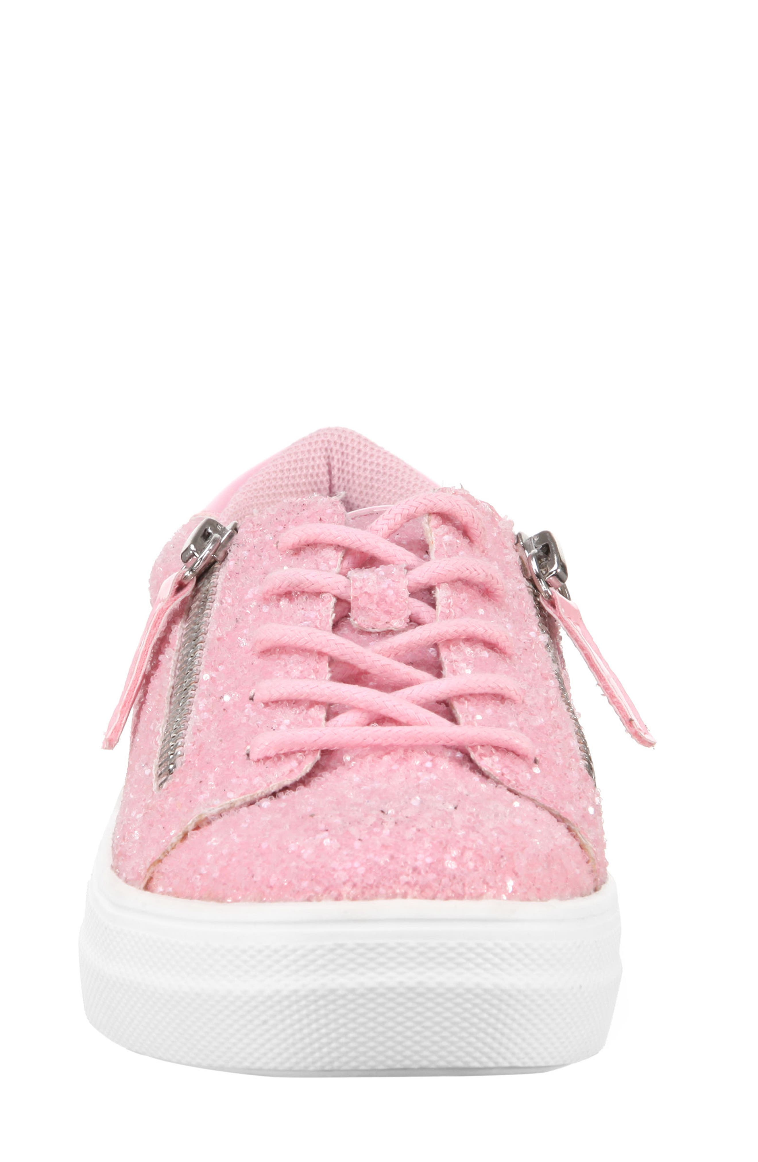Jennalyn Glitter Sneaker,                             Alternate thumbnail 4, color,                             Light Pink Chunky Glitter
