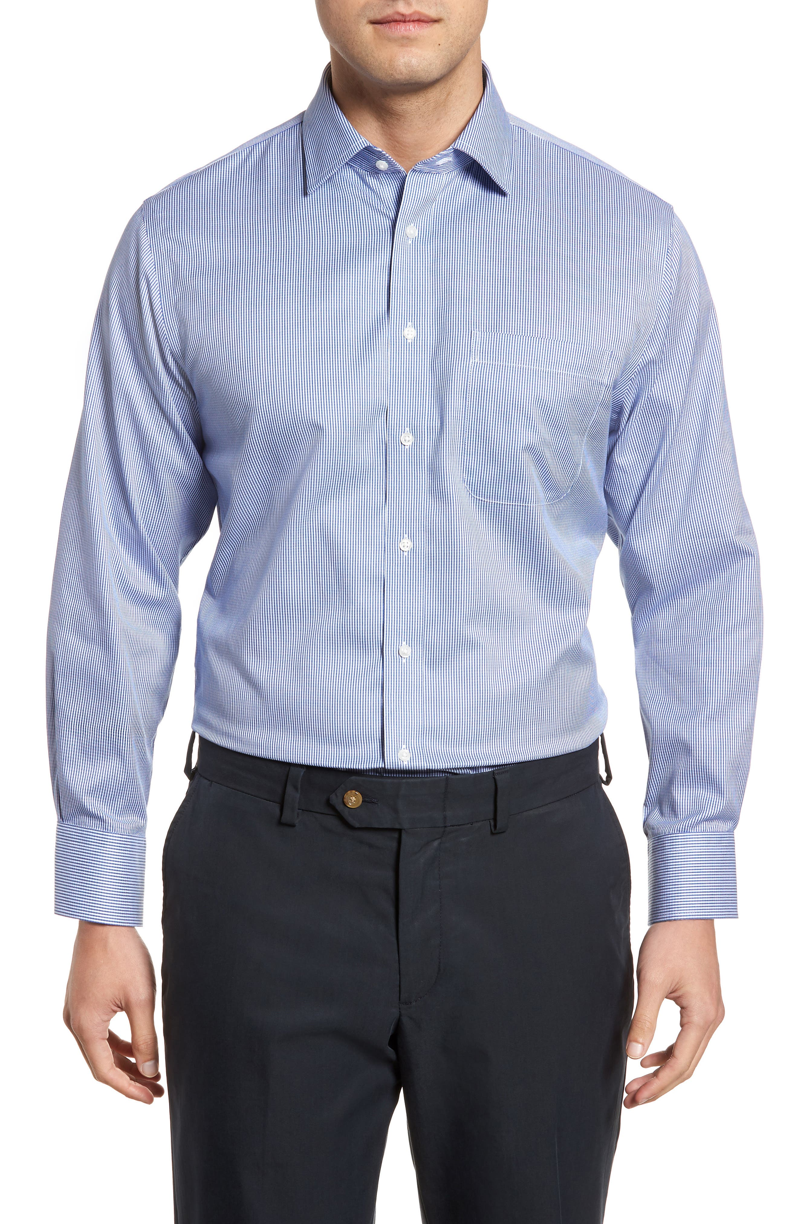 Main Image - Nordstrom Men's Shop Smartcare™ Traditional Fit Stripe Dress Shirt