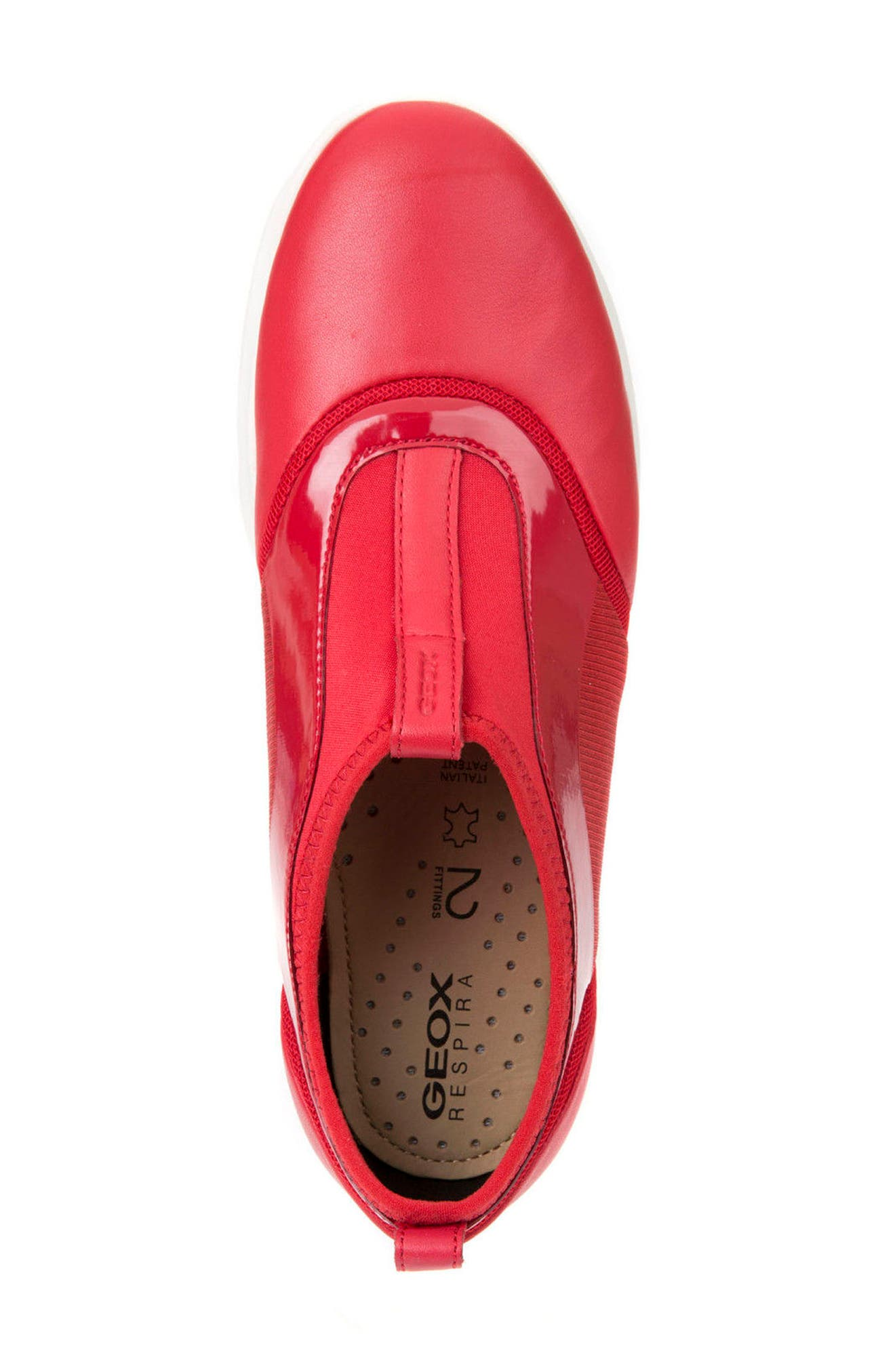 Nebula S Slip-On Sneaker,                             Alternate thumbnail 4, color,                             Red Leather