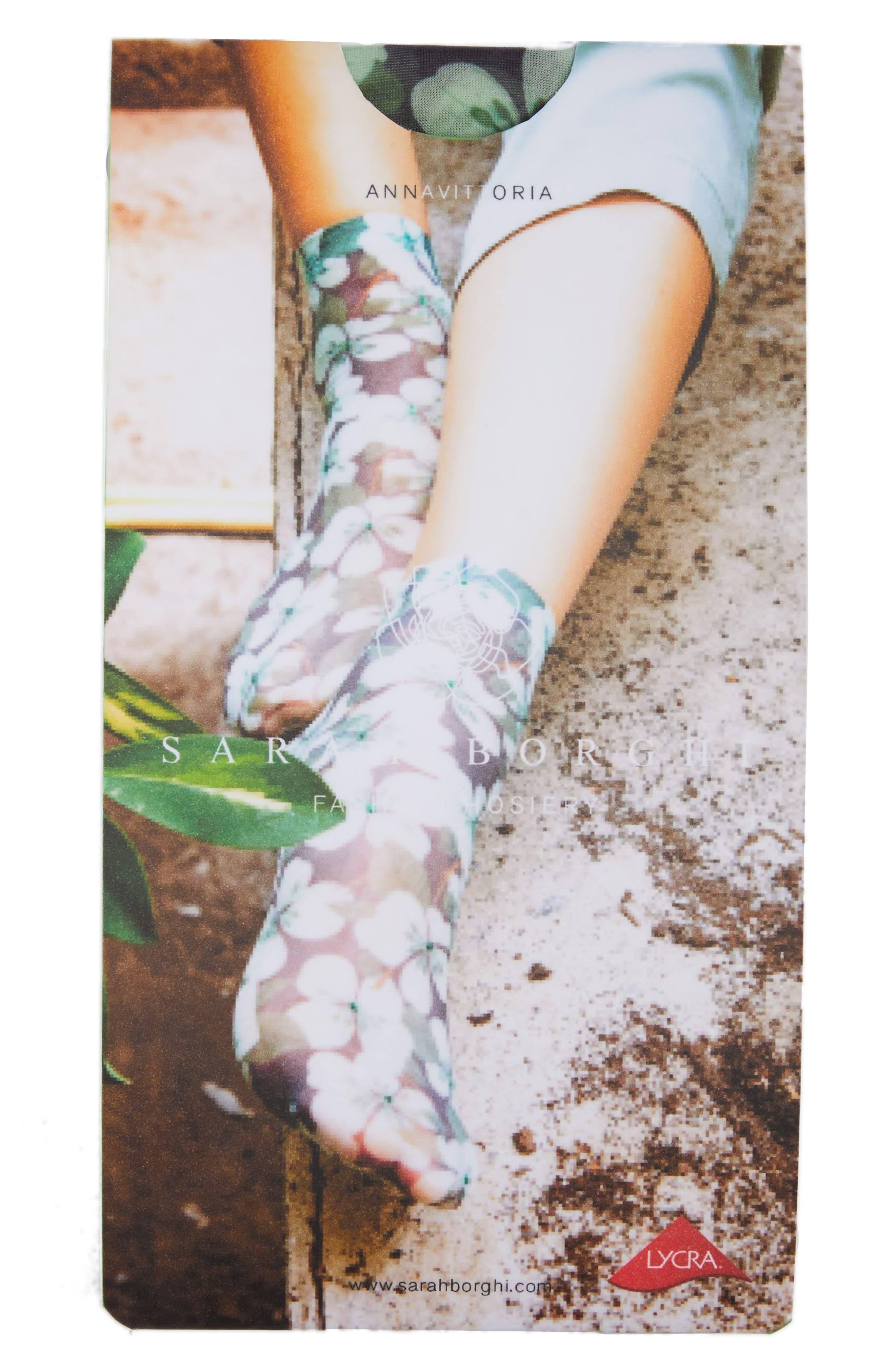 Annavittoria Ankle Socks,                             Alternate thumbnail 2, color,                             Fiore Strass