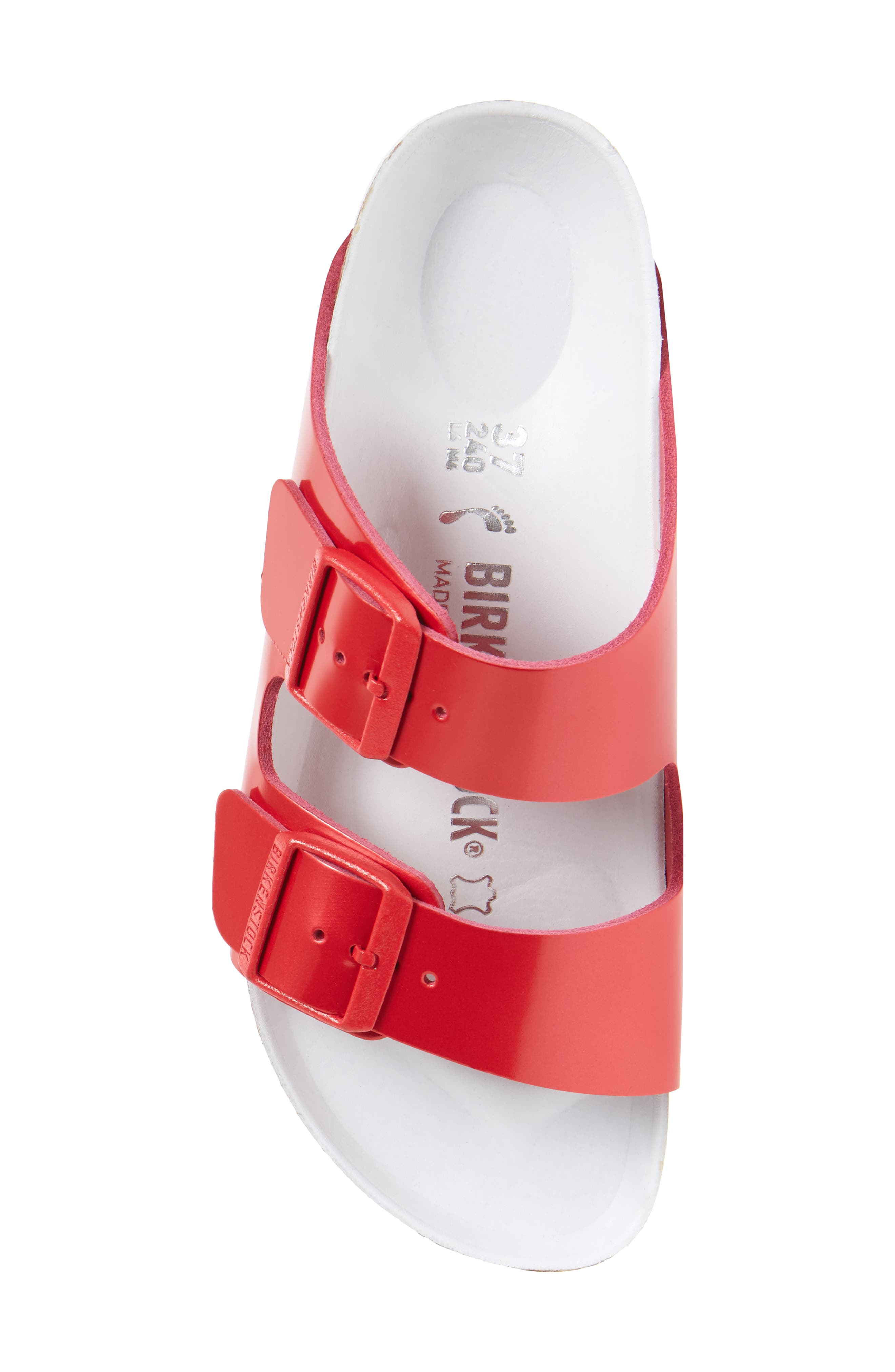 Arizona Hex Limited Edition - Shock Drop Slide Sandal,                             Alternate thumbnail 5, color,                             Red Spectacular Leather
