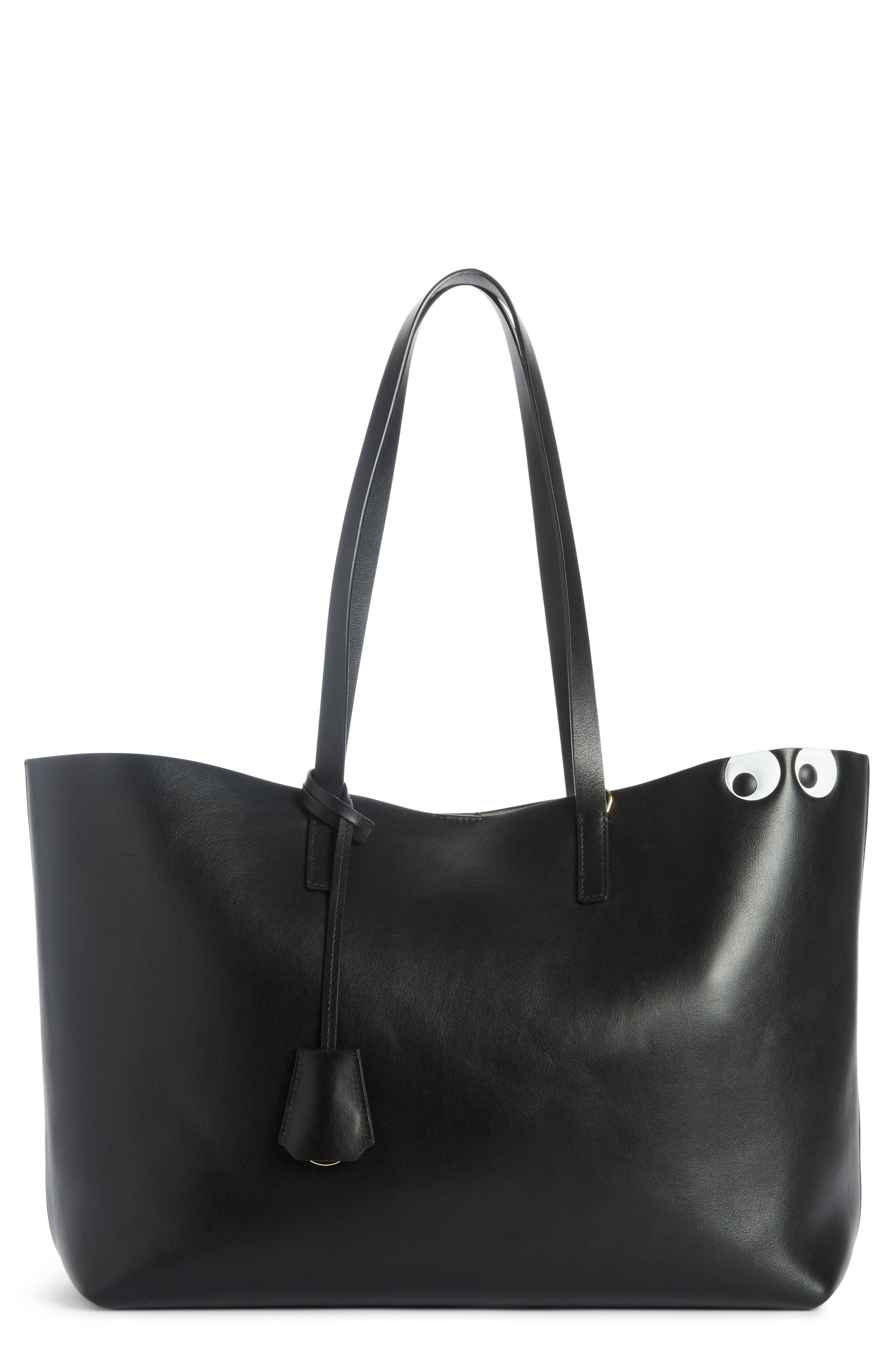 Ebury Eyes Leather Tote,                         Main,                         color, Black