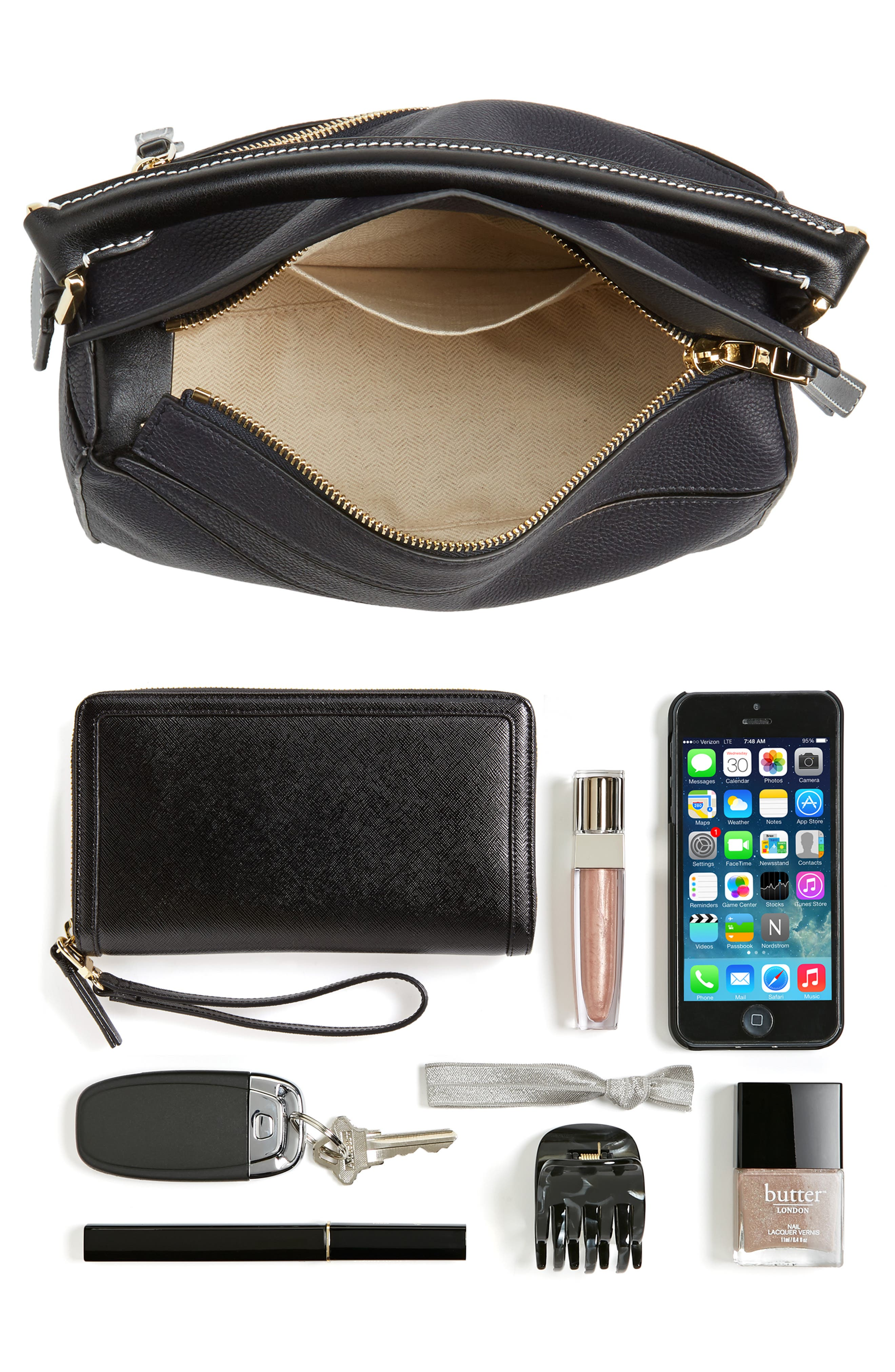 Small Puzzle Leather Bag,                             Alternate thumbnail 7, color,
