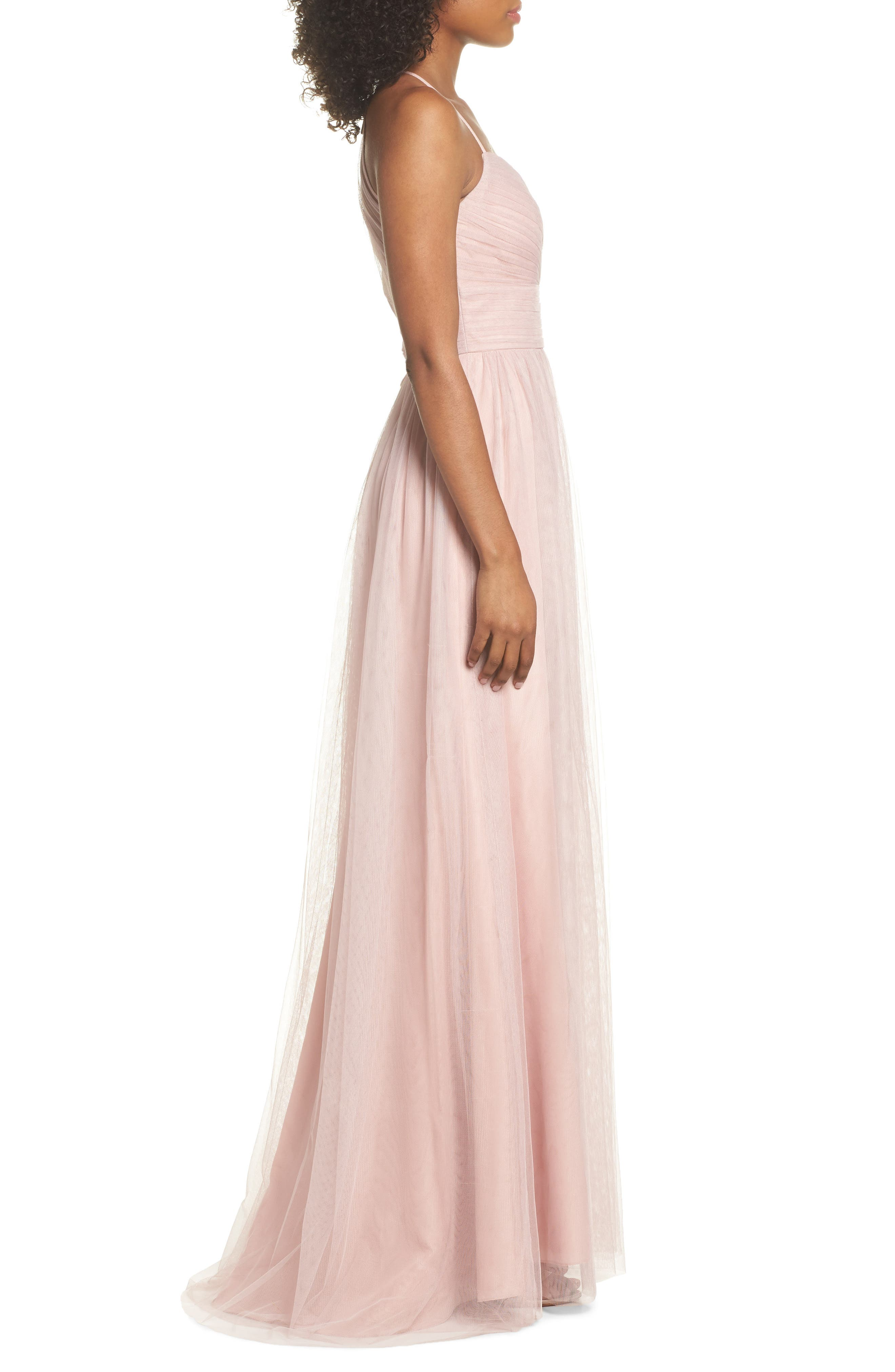 English Net Gown,                             Alternate thumbnail 3, color,                             Dusty Rose