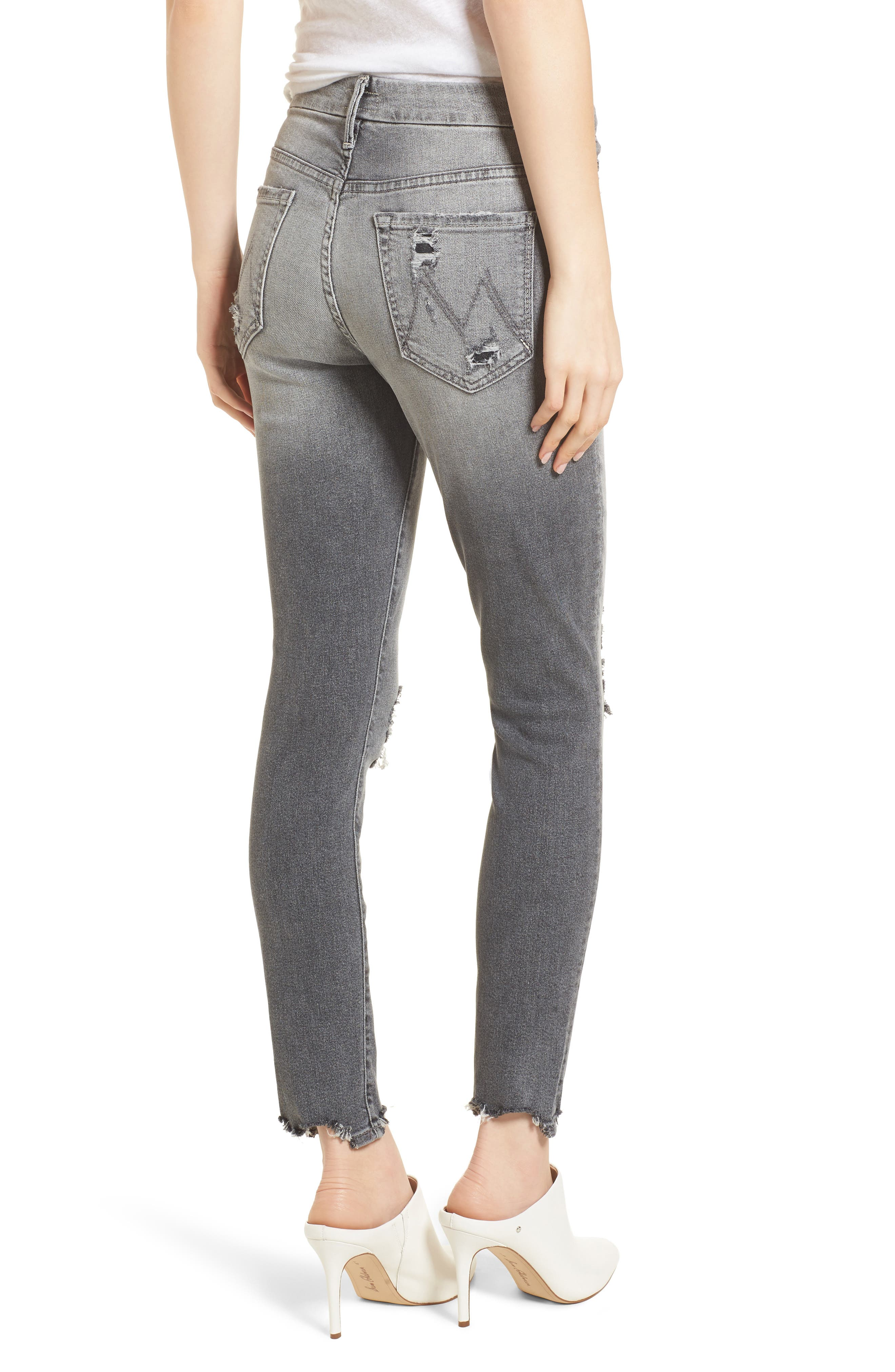 The Looker High Waist Ankle Skinny Jeans,                             Alternate thumbnail 2, color,                             Scene Of The Crime