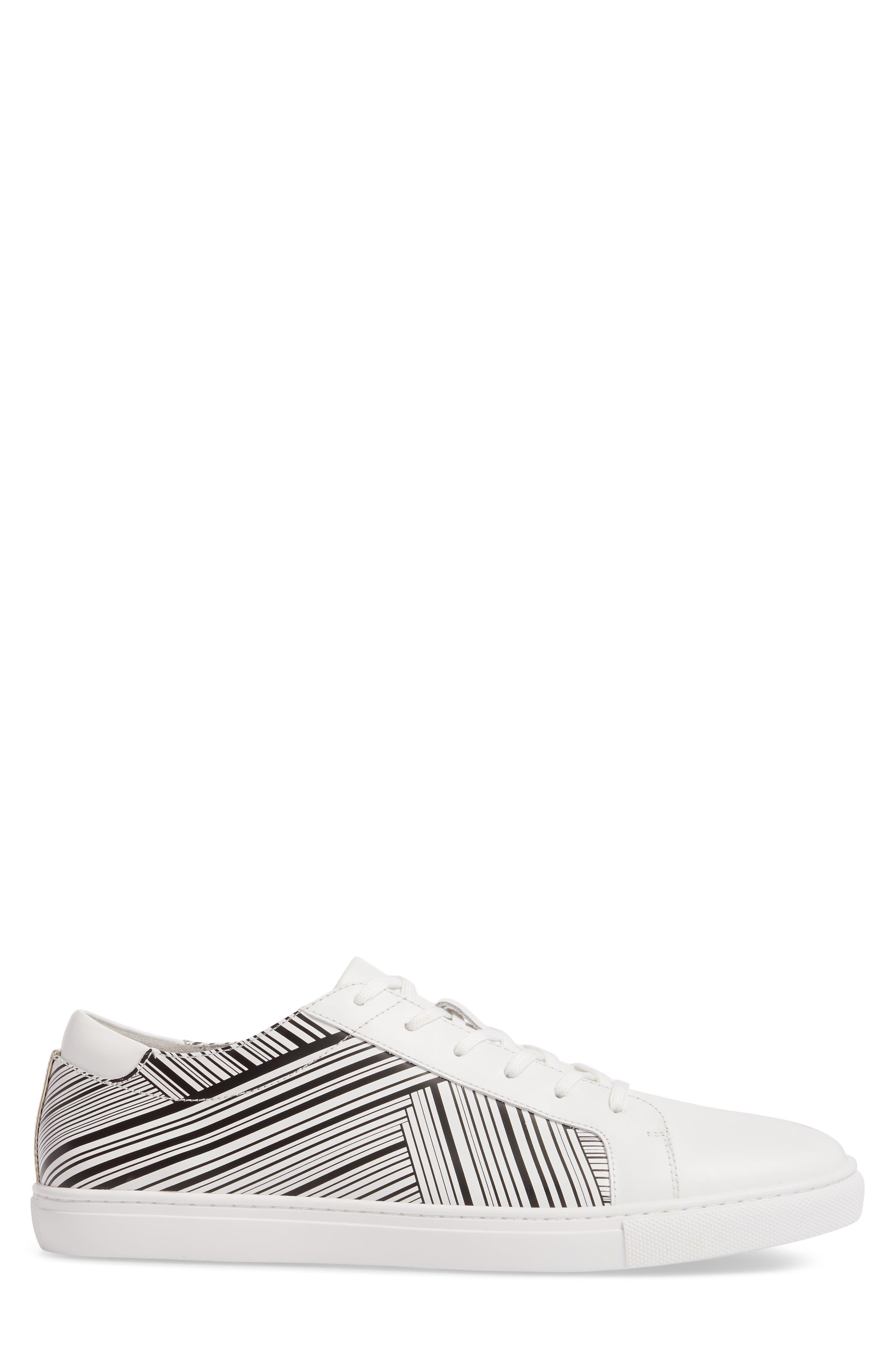 Kam Sneaker,                             Alternate thumbnail 3, color,                             White/ Black Leather