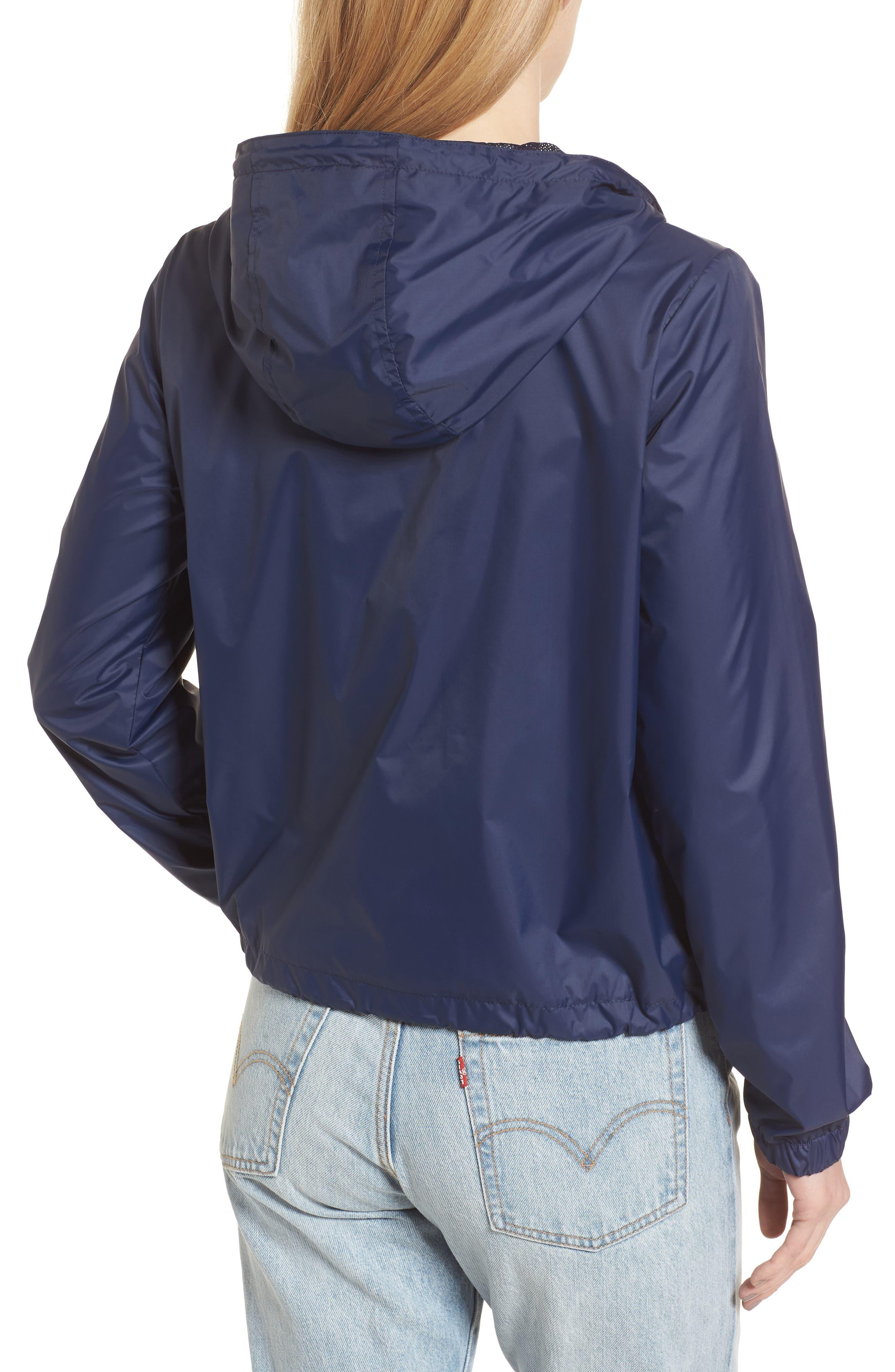 Retro Hooded Coach's Jacket,                             Alternate thumbnail 2, color,                             Navy