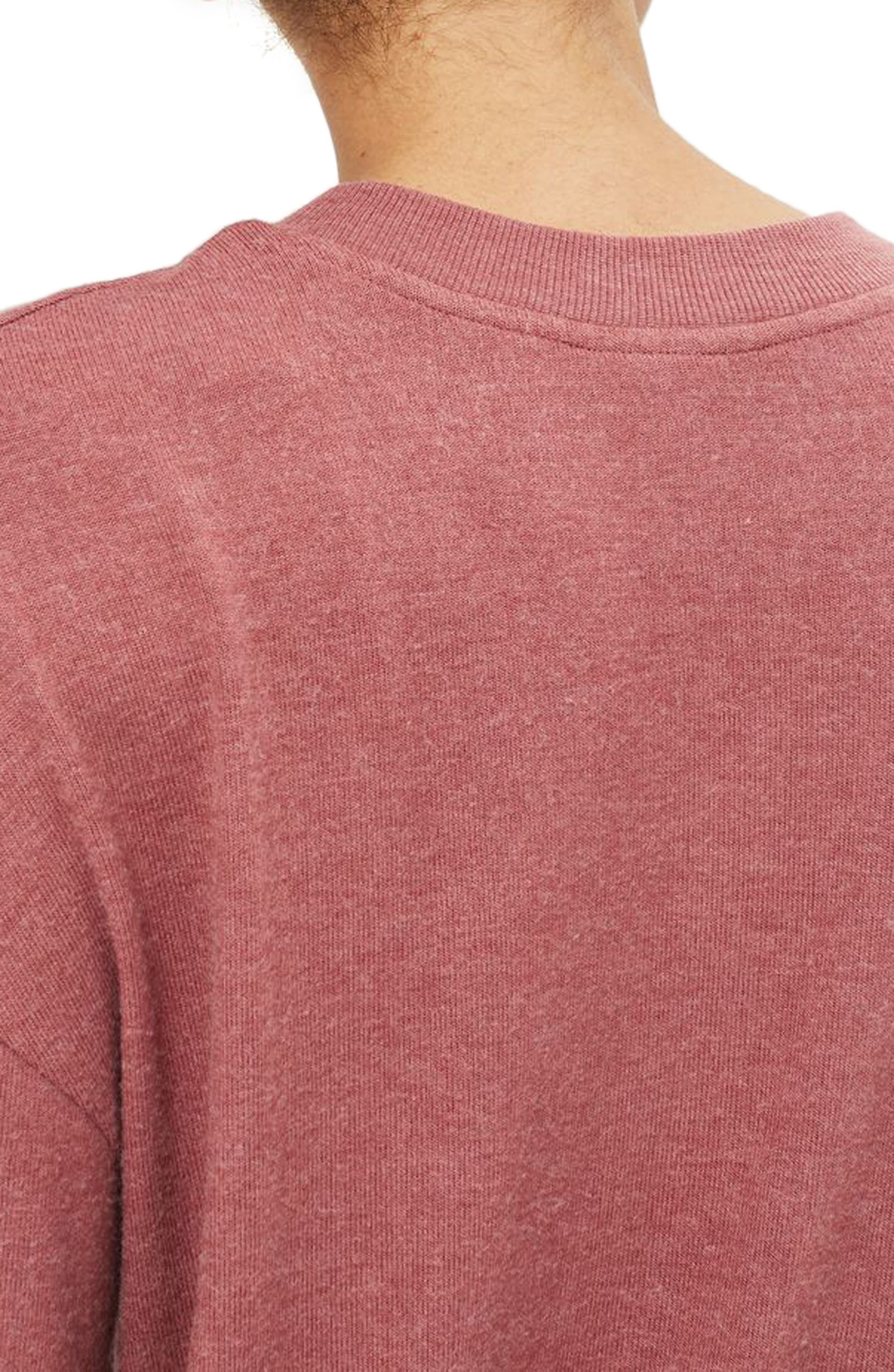 Rose Sweatshirt,                             Alternate thumbnail 2, color,                             Pink