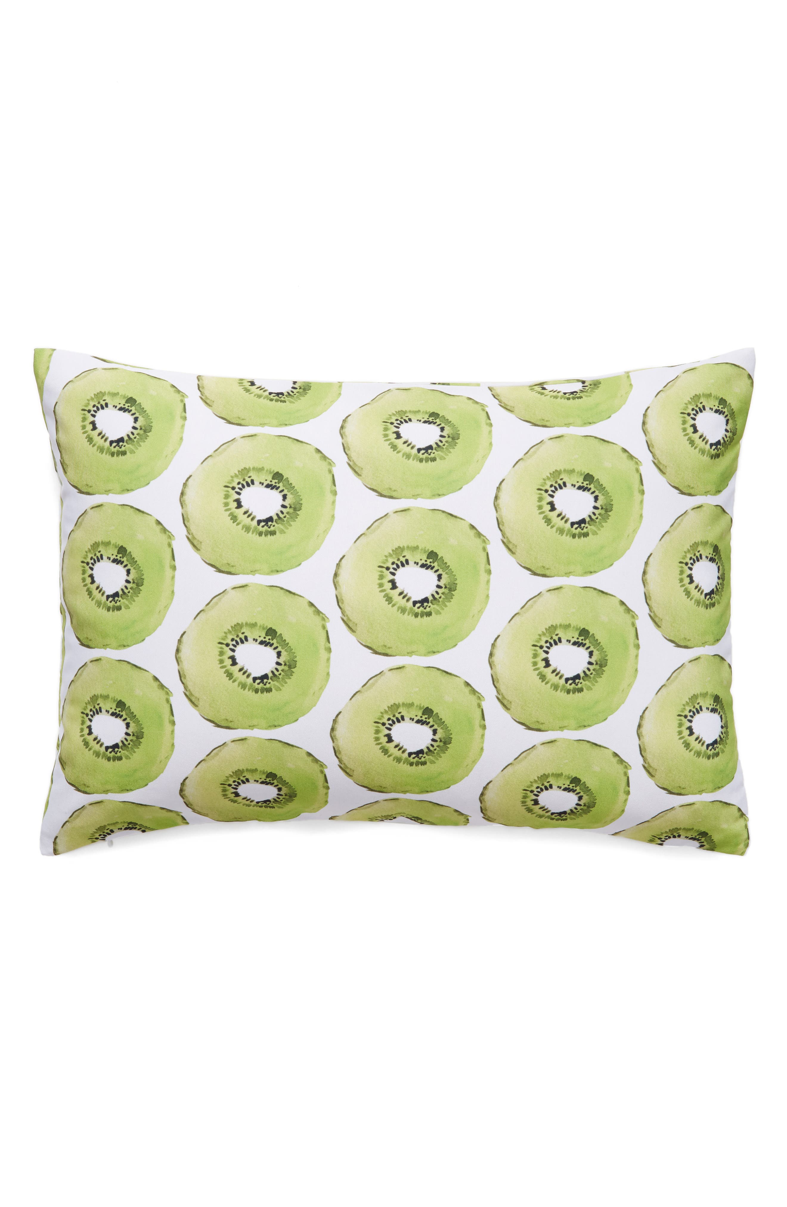 Kiwi Accent Pillow,                         Main,                         color, Green
