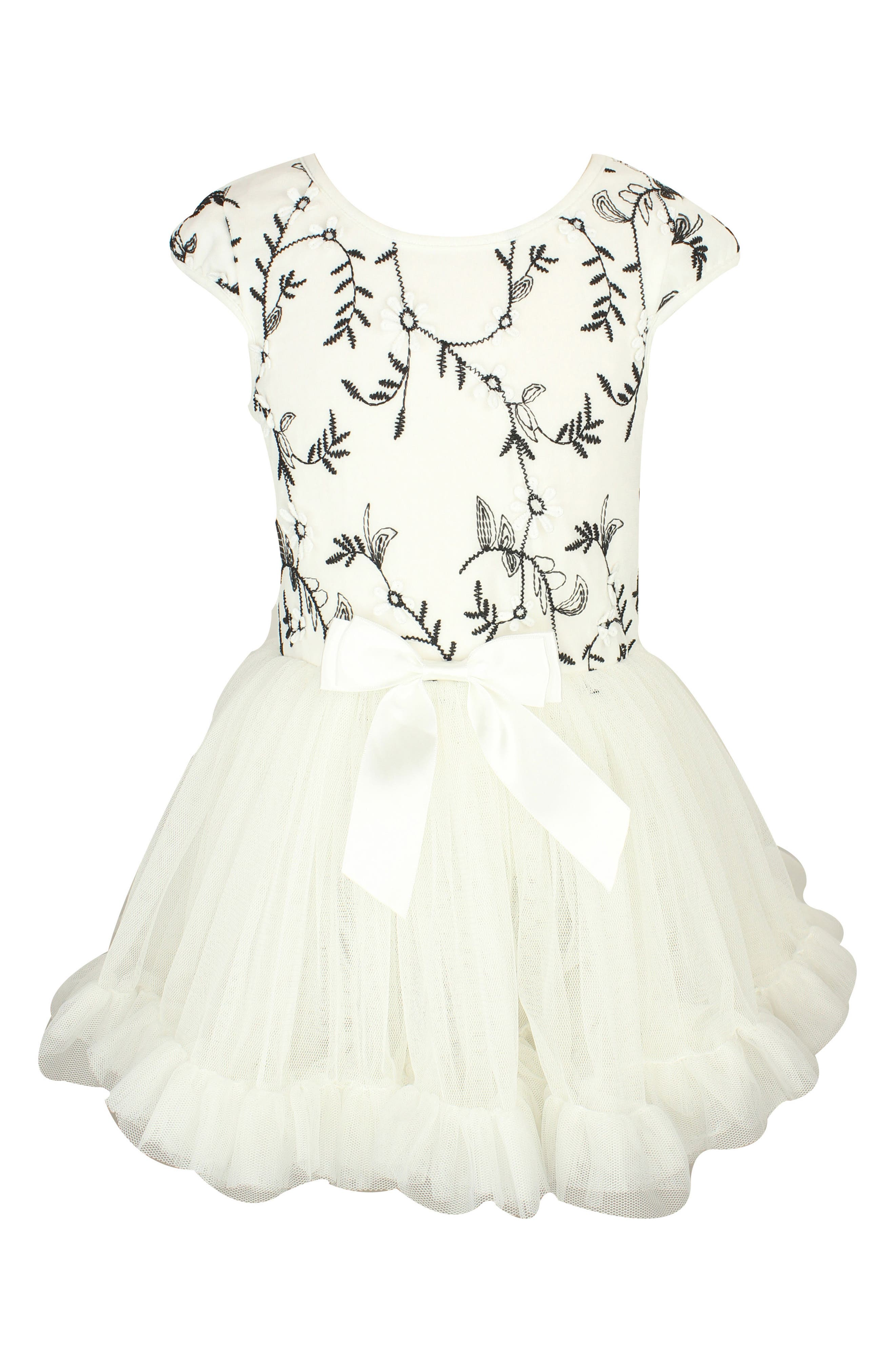 Embroidered Pettidress,                             Main thumbnail 1, color,                             White