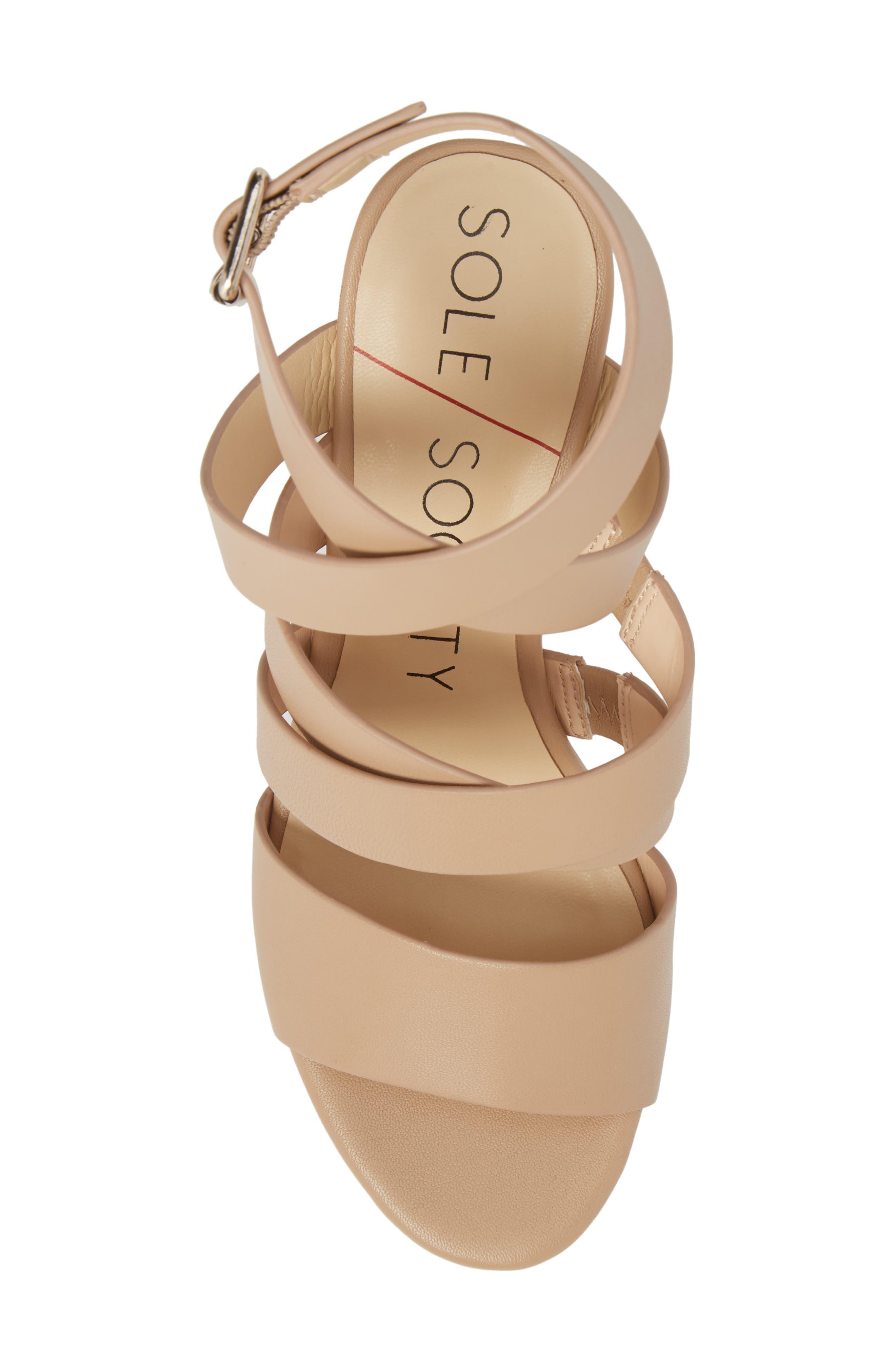 Pippy Platform Sandal,                             Alternate thumbnail 5, color,                             Tan