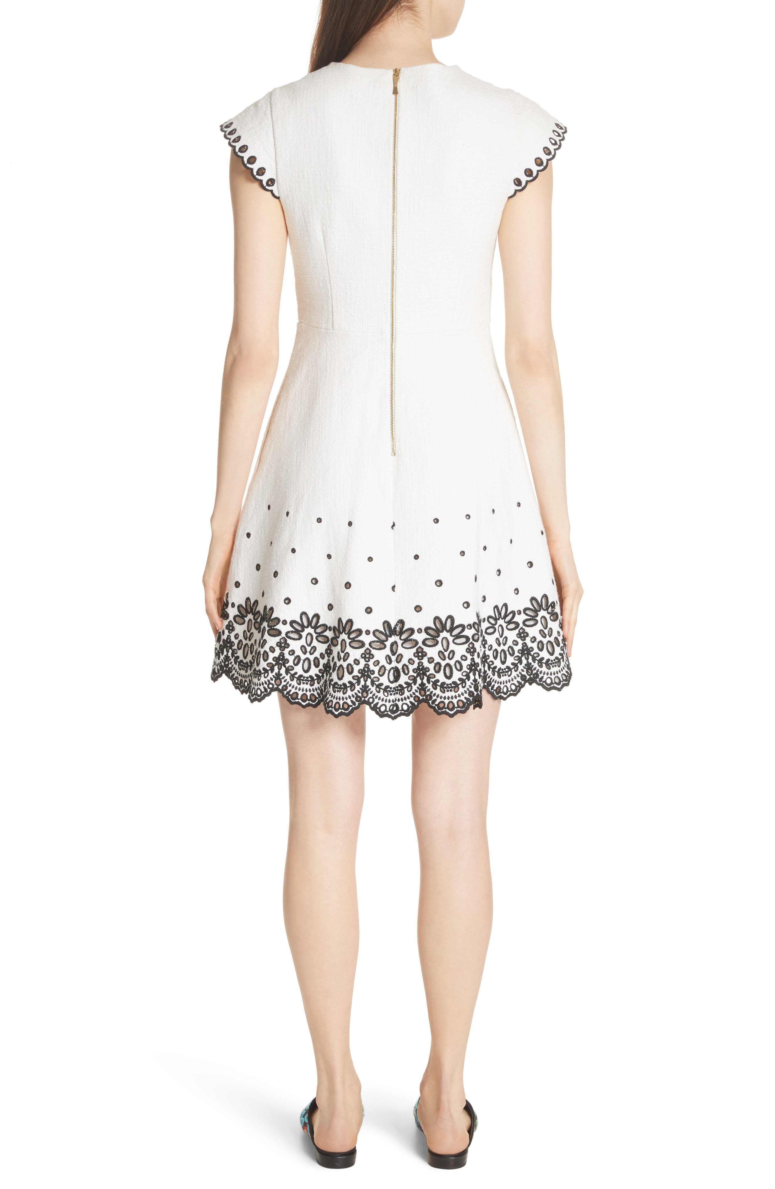 Alternate Image 2  - kate spade new york ria laser cut embroidered A-line dress
