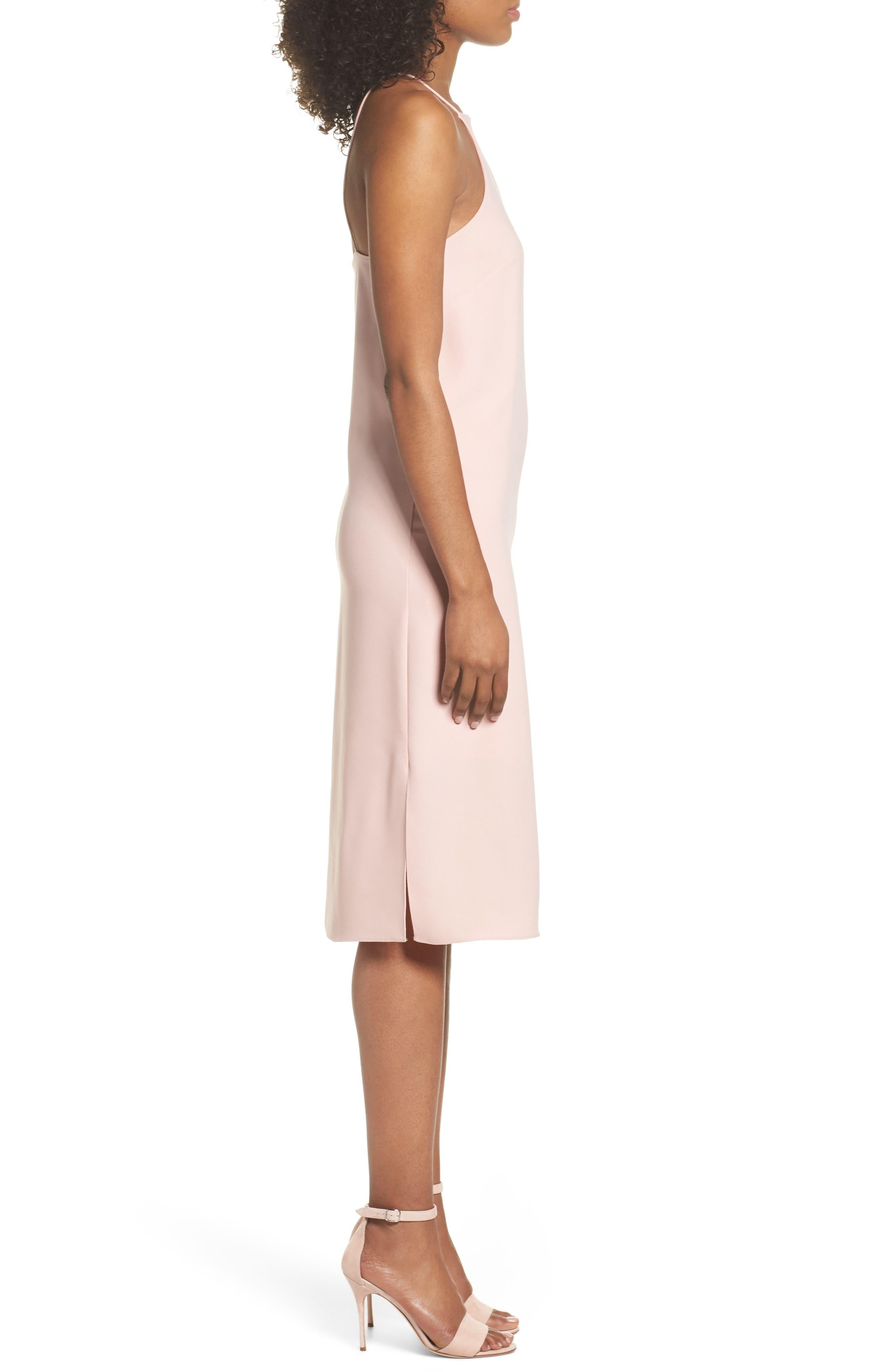 Sleeveless Midi Dress,                             Alternate thumbnail 3, color,                             Blush