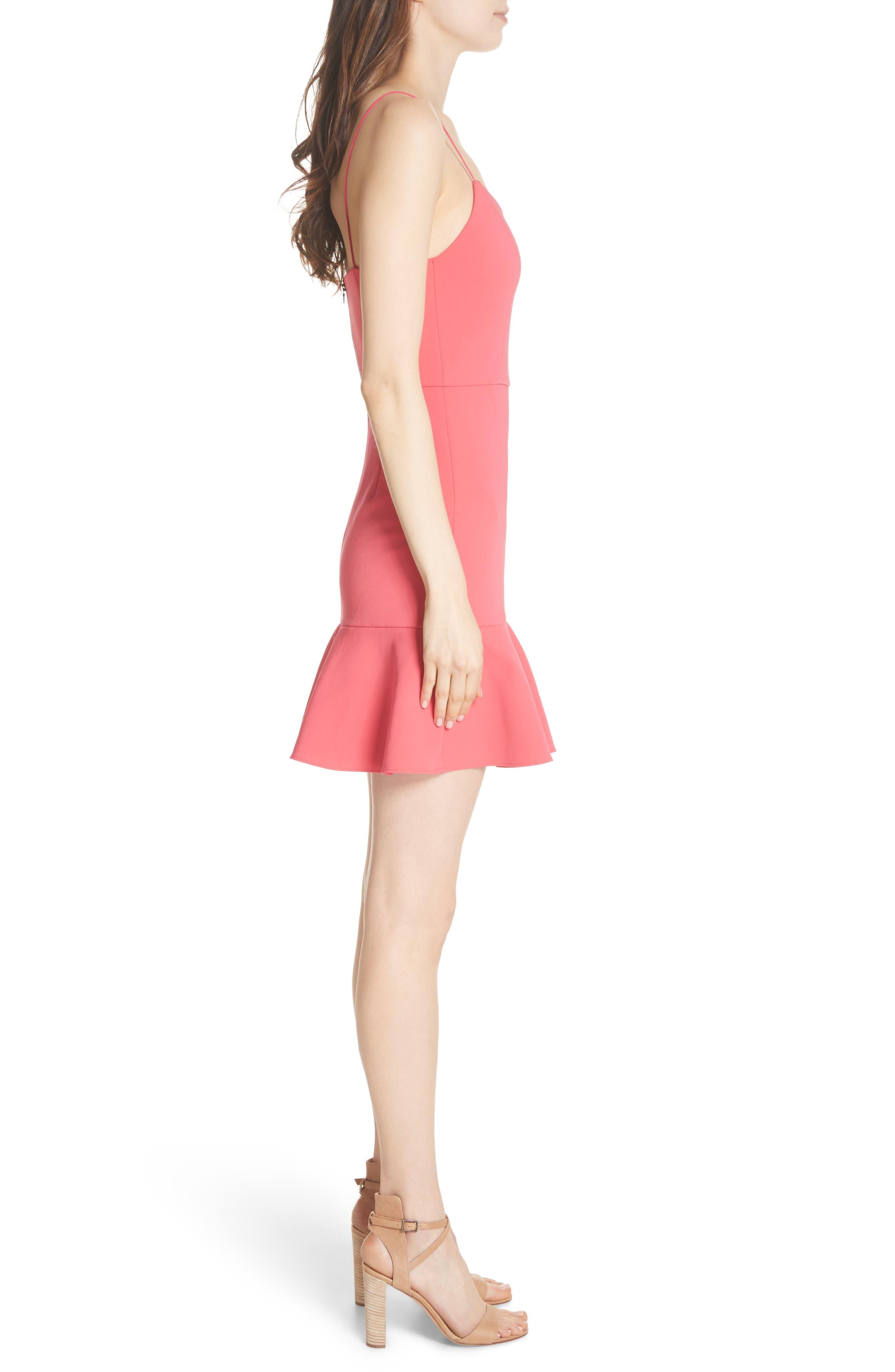 Andalasia Sleeveless Fit & Flare Dress,                             Alternate thumbnail 3, color,                             Watermelon