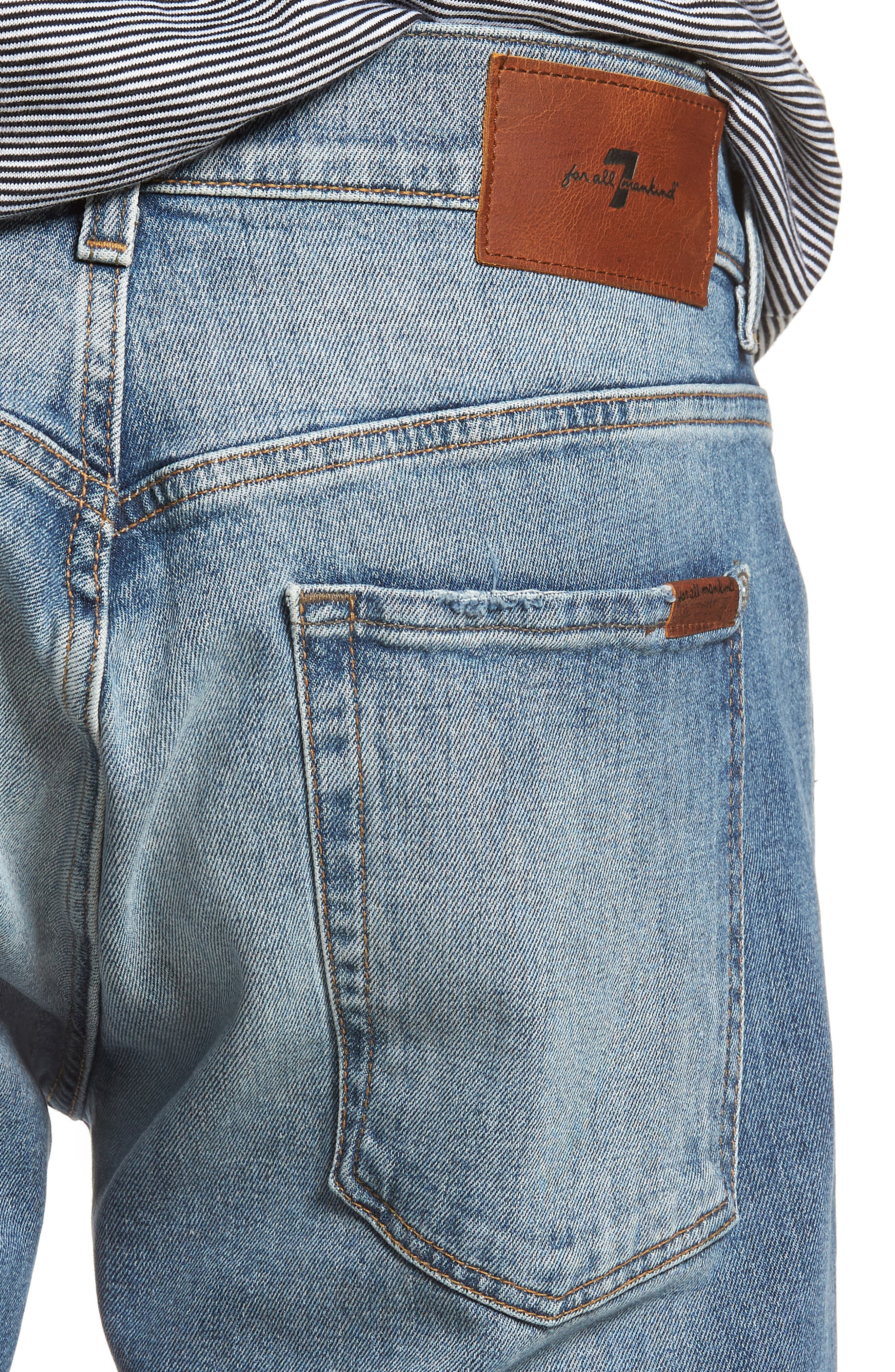 The Straight Slim Straight Leg Jeans,                             Alternate thumbnail 4, color,                             Free Agent Destroyed