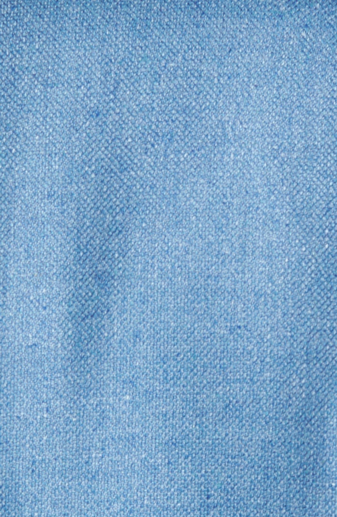 Aiden Classic Fit Silk & Wool Blazer,                             Alternate thumbnail 5, color,                             Blue