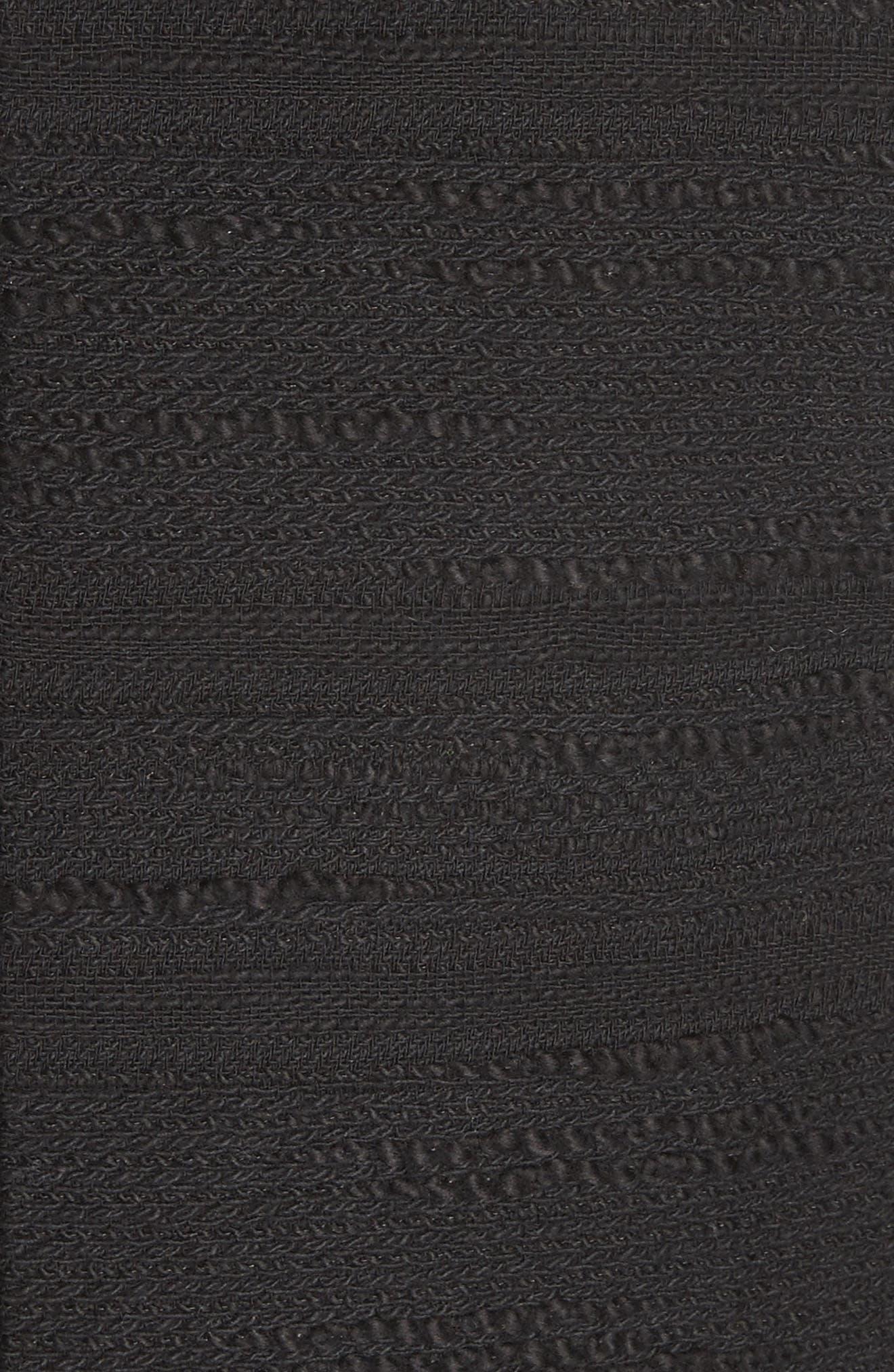 blossom trim tweed jacket,                             Alternate thumbnail 5, color,                             Black