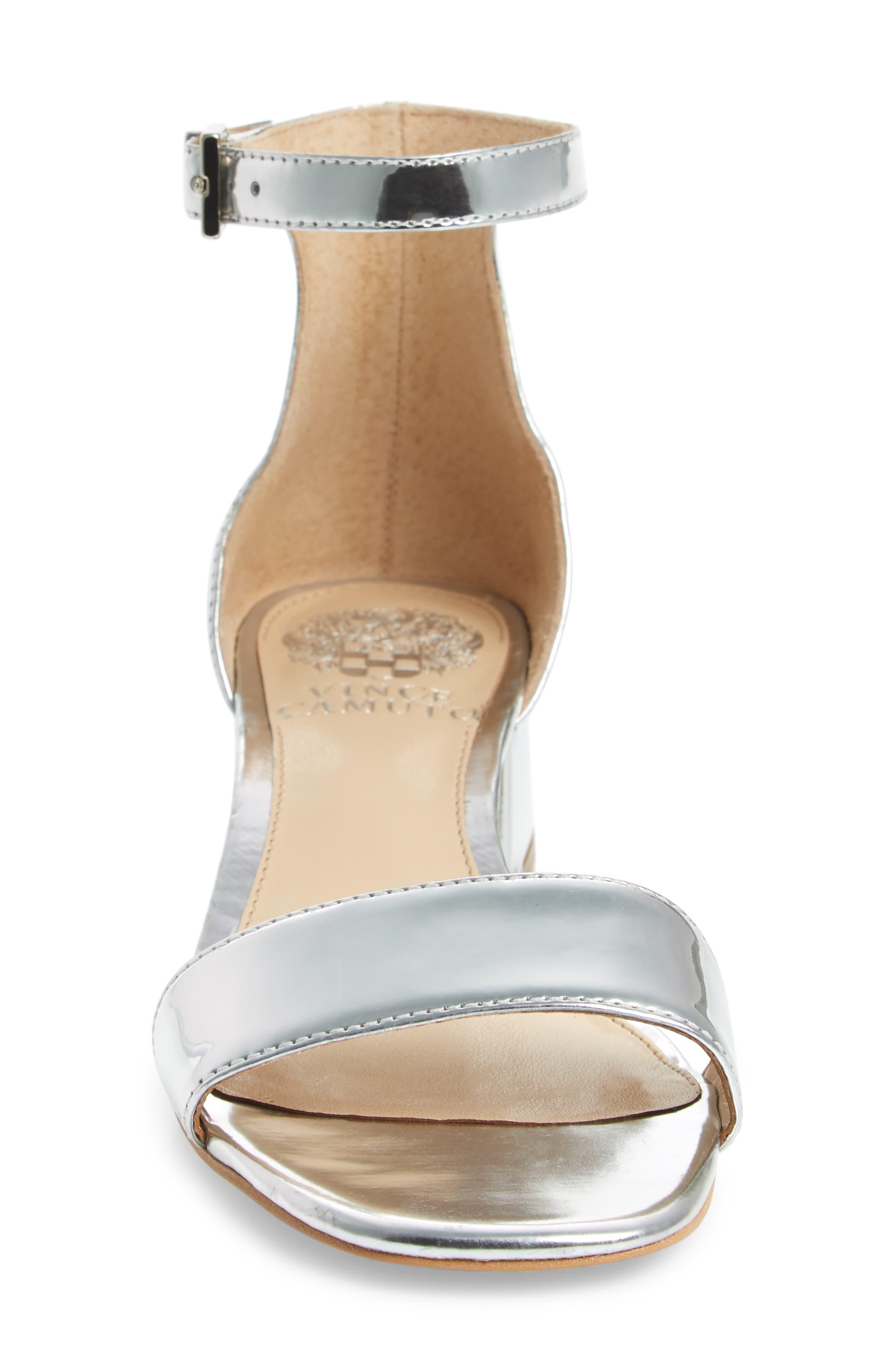 Sasseta Sandal,                             Alternate thumbnail 4, color,                             Bright Silver