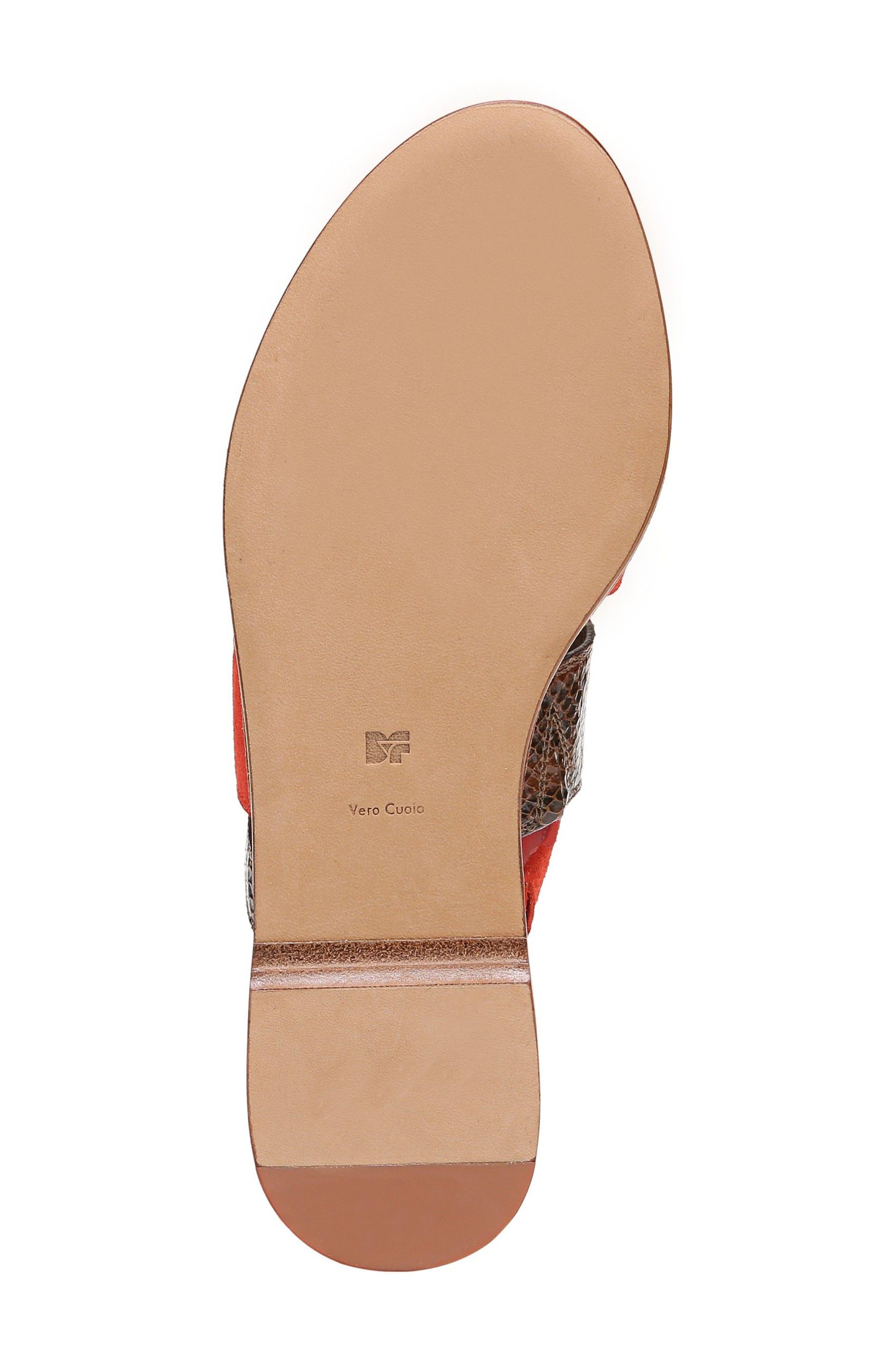 Blake Cross Strap Slide Sandal,                             Alternate thumbnail 6, color,                             Caramel/ Red