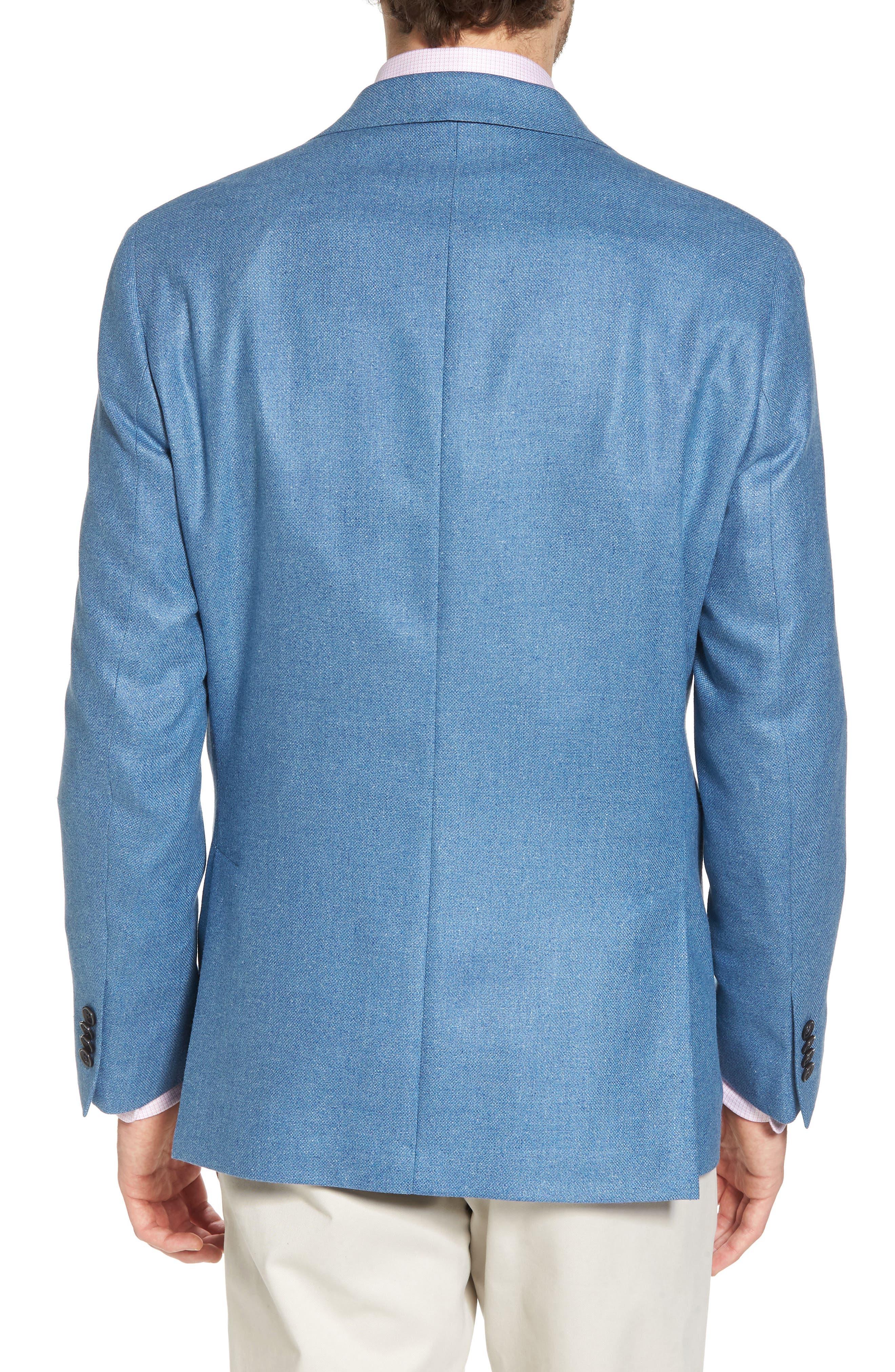 Aiden Classic Fit Silk & Wool Blazer,                             Alternate thumbnail 2, color,                             Blue