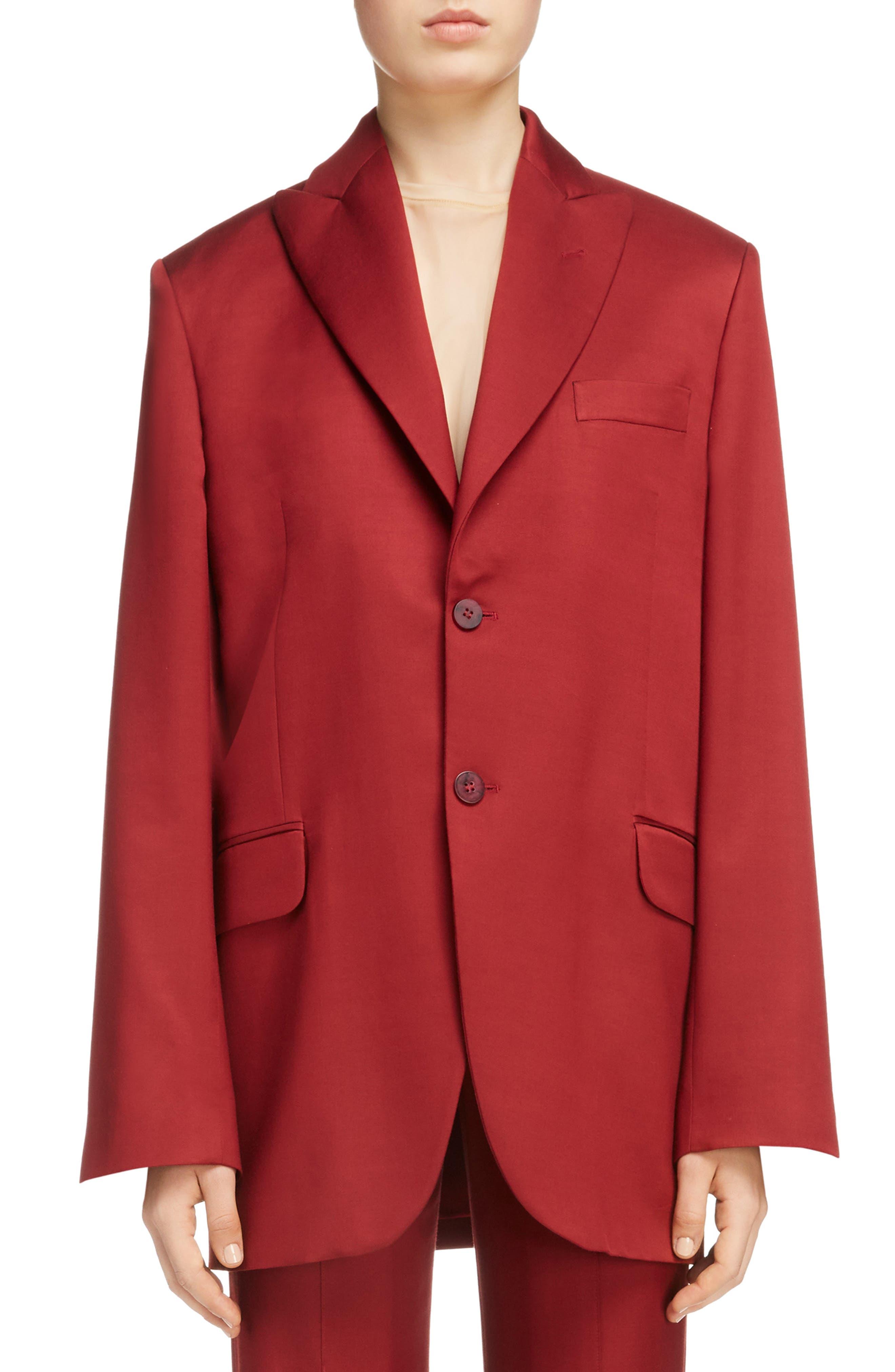 Jaria Suit Jacket,                         Main,                         color, Crimson Red