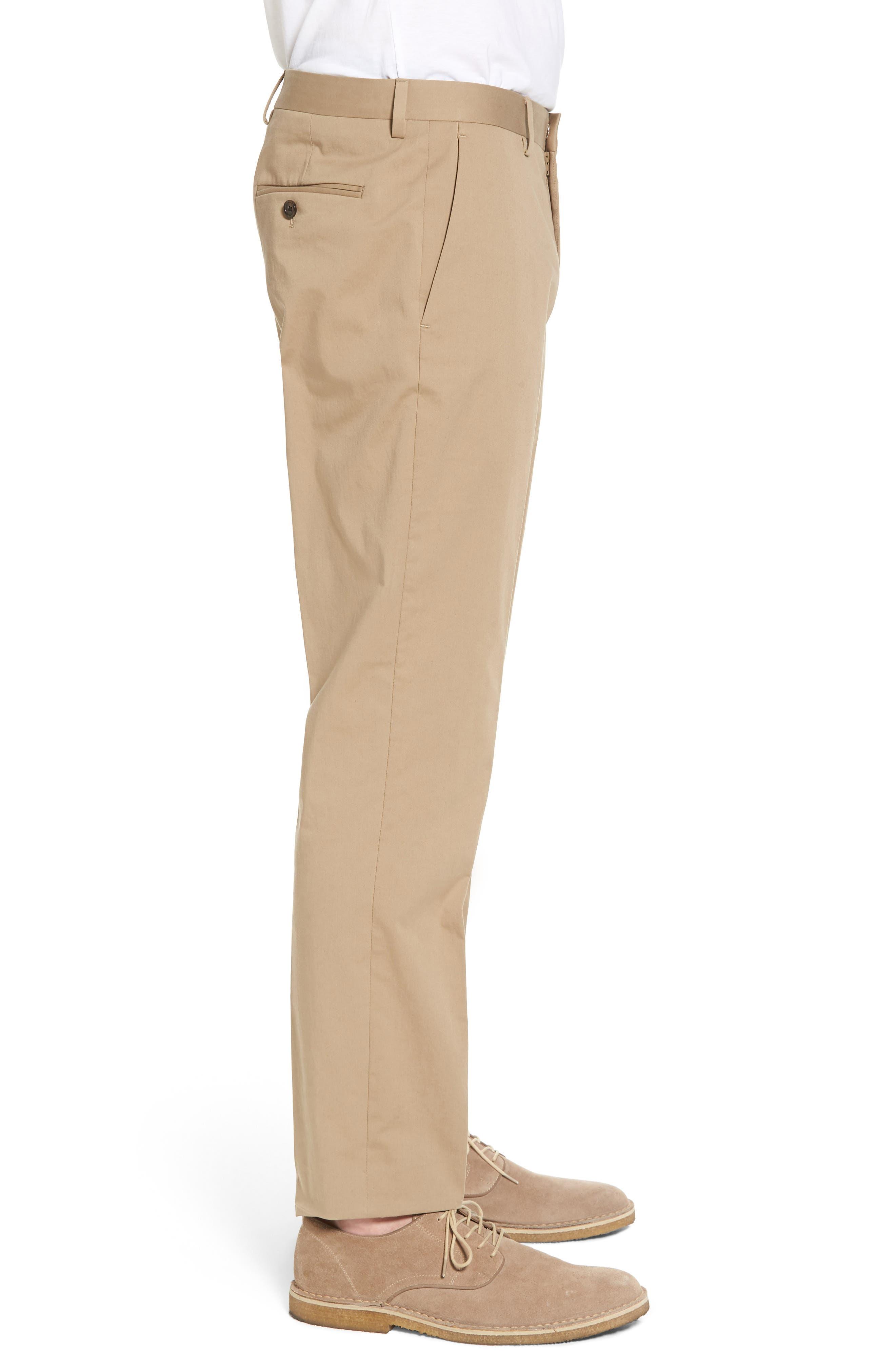 J.Crew Ludlow Stretch Chino Suit Pants,                             Alternate thumbnail 3, color,                             Khaki